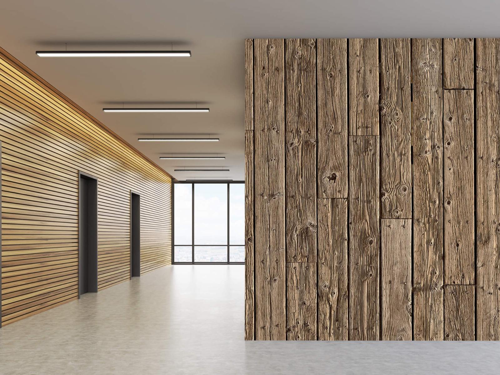 Hout behang - Oud hout - Wallexclusive - Slaapkamer 6