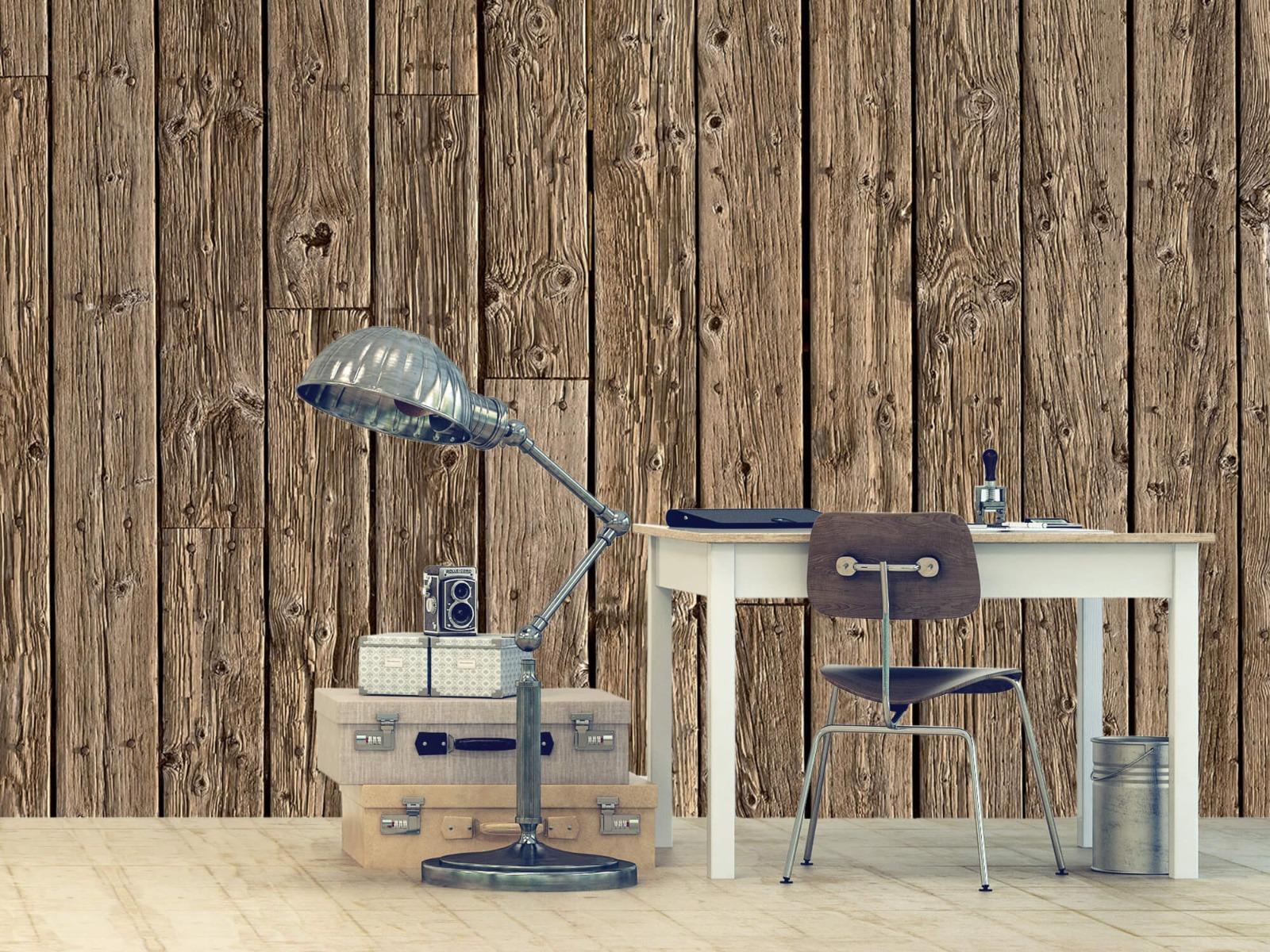 Hout behang - Oud hout - Wallexclusive - Slaapkamer 10
