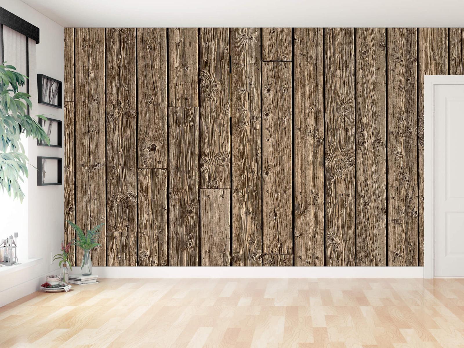 Hout behang - Oud hout - Wallexclusive - Slaapkamer 12