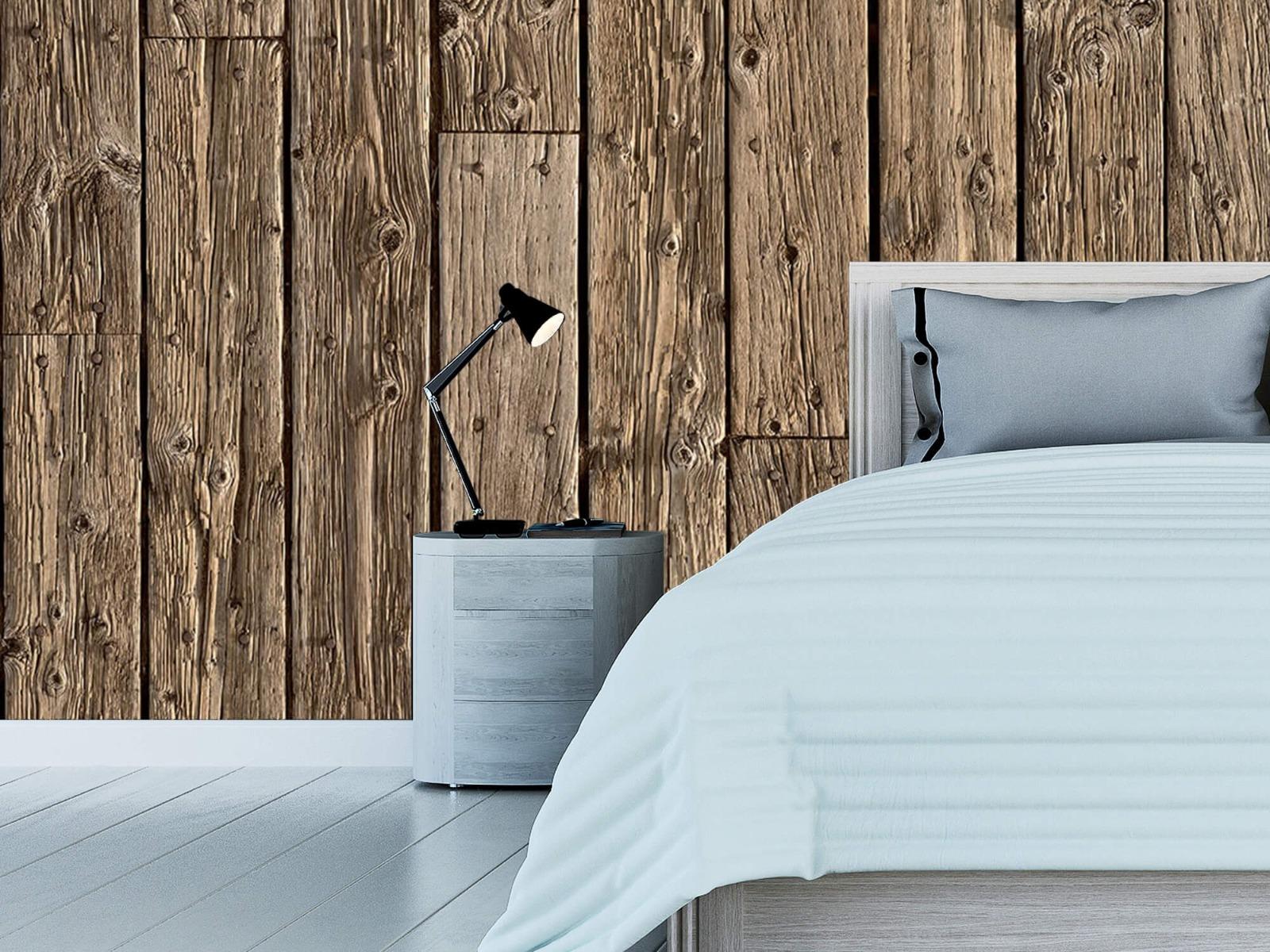 Hout behang - Oud hout - Wallexclusive - Slaapkamer 13