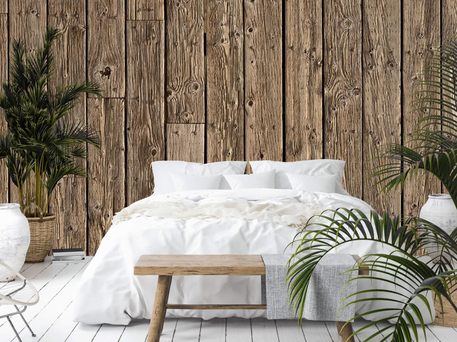 Hout behang - Oud hout - Wallexclusive - Slaapkamer 14