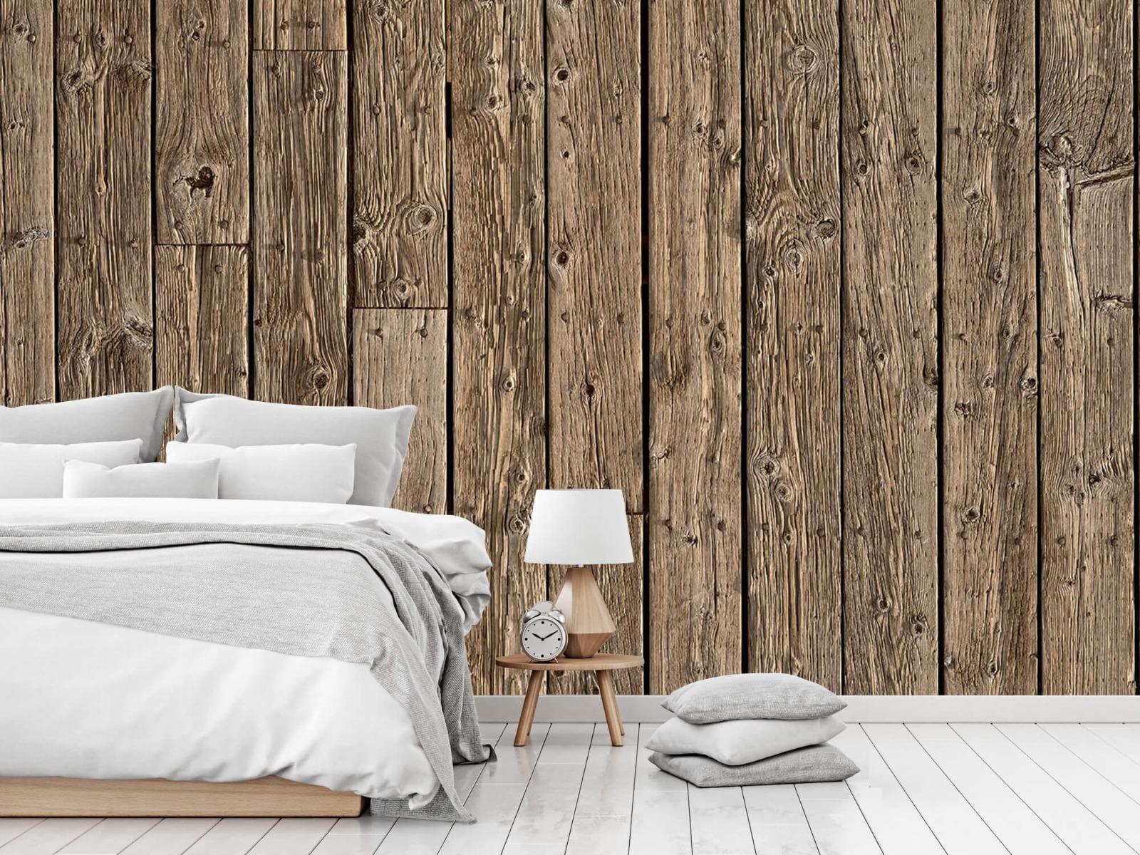 Hout behang - Oud hout - Wallexclusive - Slaapkamer 15