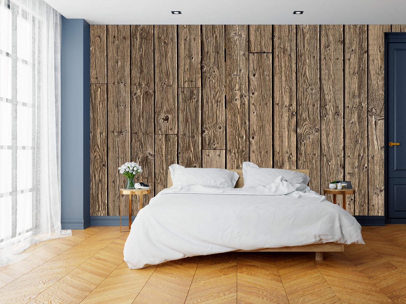 Hout behang - Oud hout - Wallexclusive - Slaapkamer 16