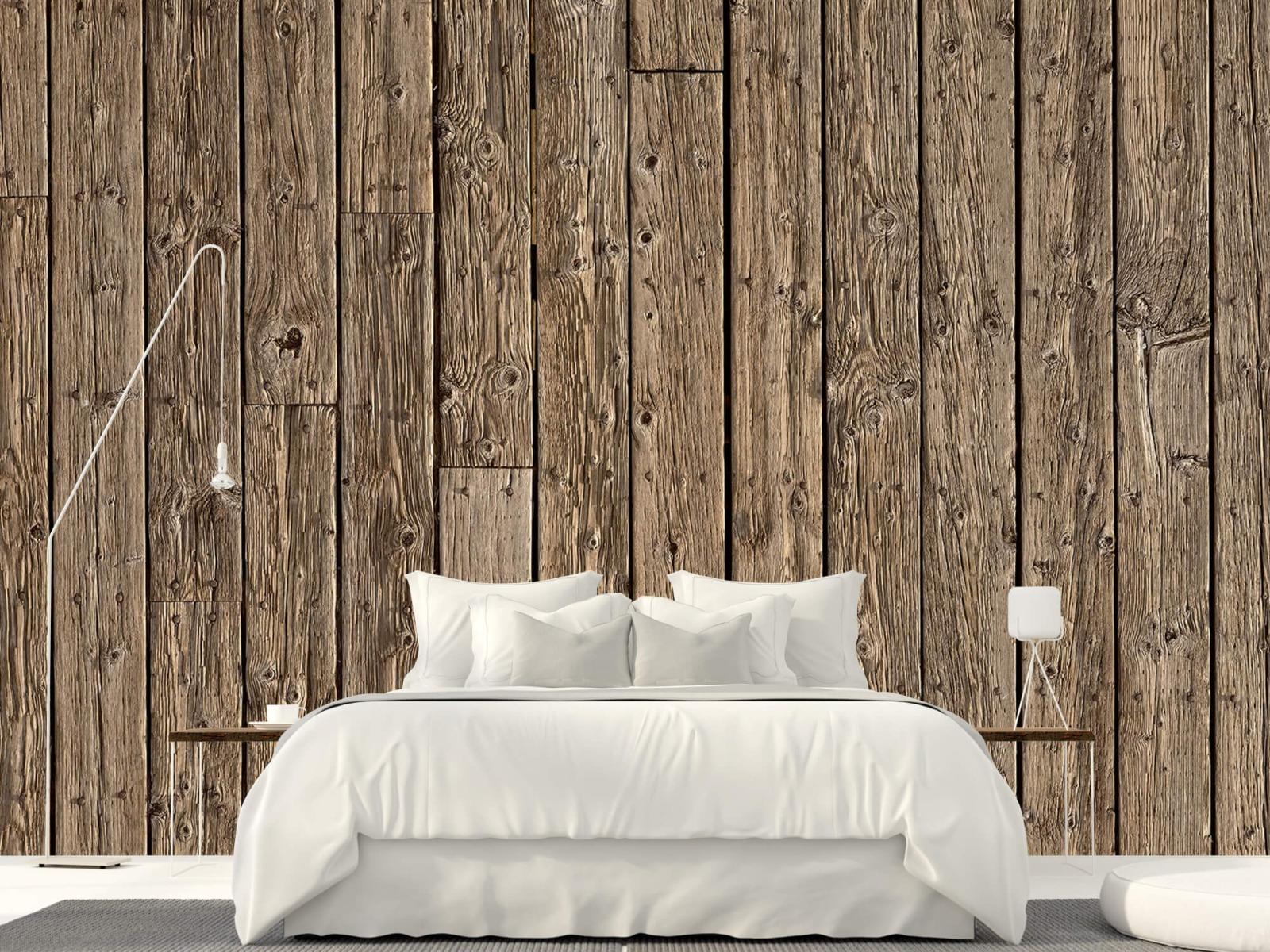 Hout behang - Oud hout - Wallexclusive - Slaapkamer 1