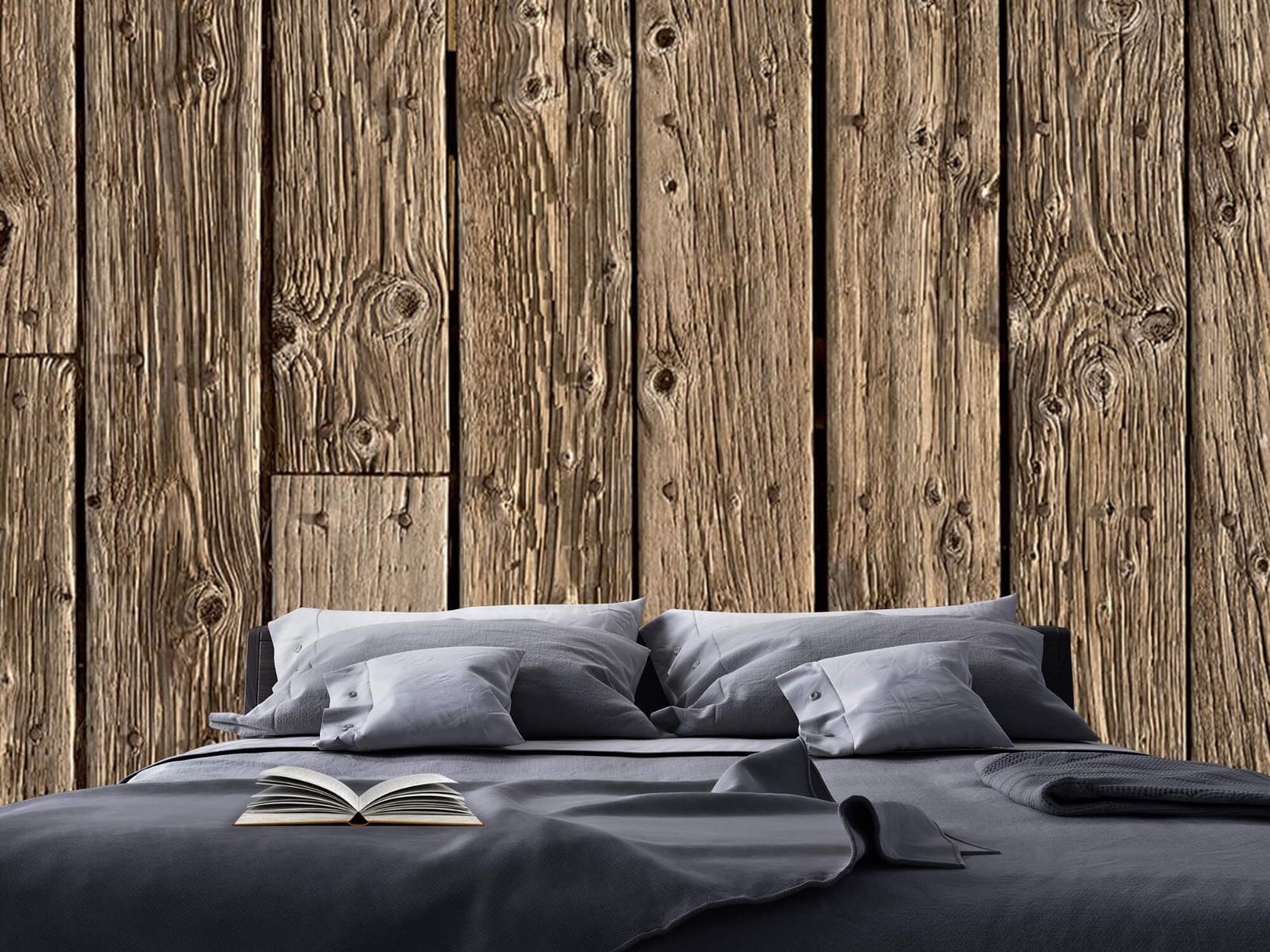 Hout behang - Oud hout - Wallexclusive - Slaapkamer 17