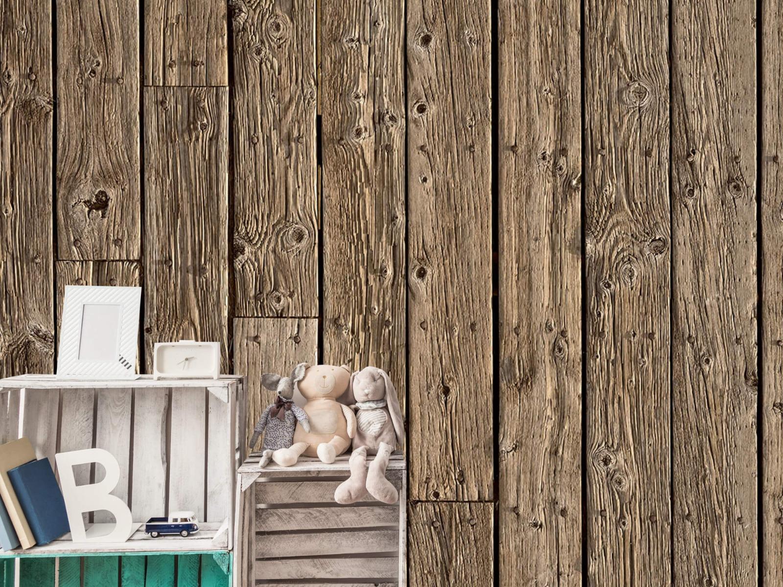 Hout behang - Oud hout - Wallexclusive - Slaapkamer 19