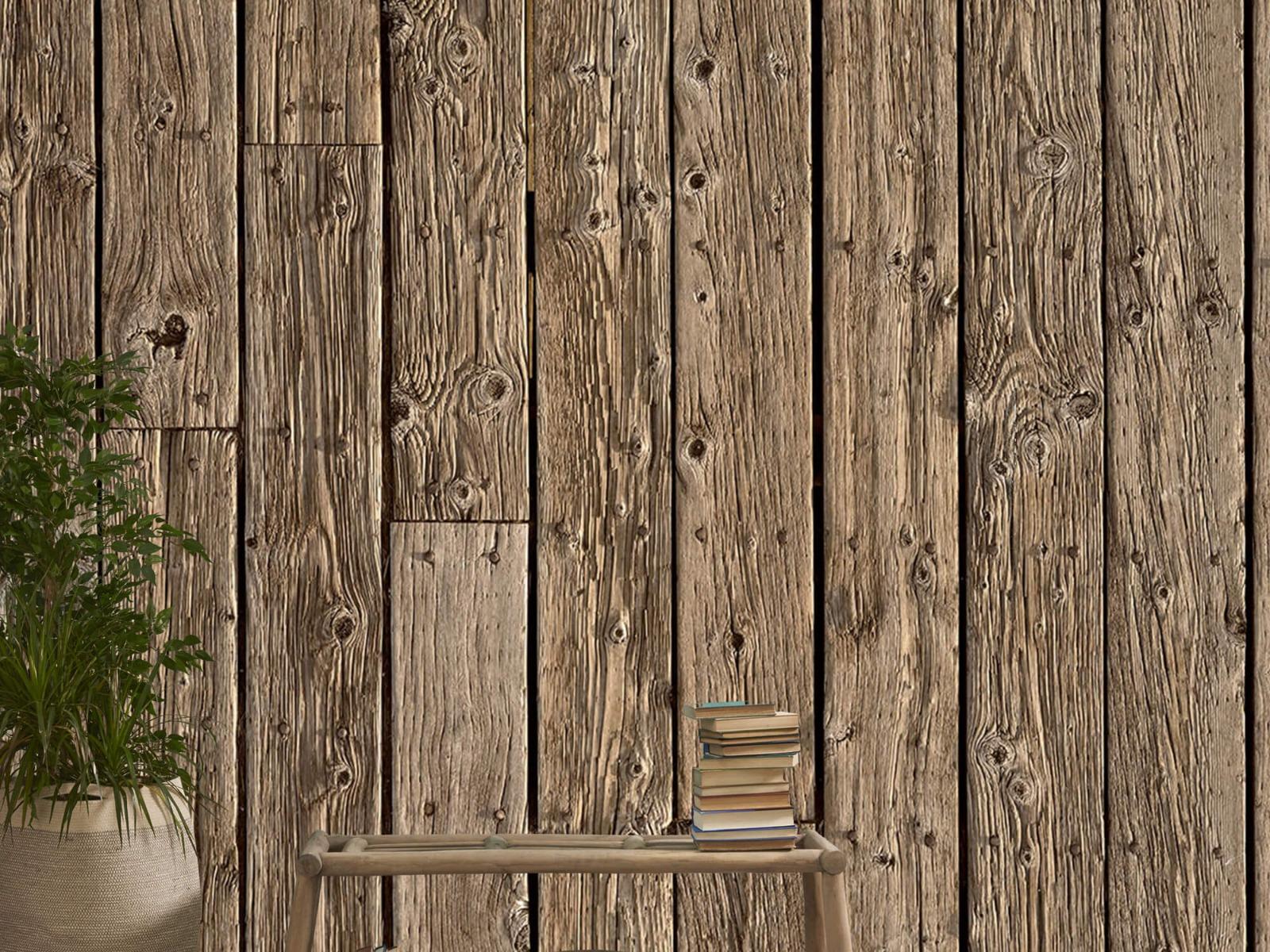 Hout behang - Oud hout - Wallexclusive - Slaapkamer 20