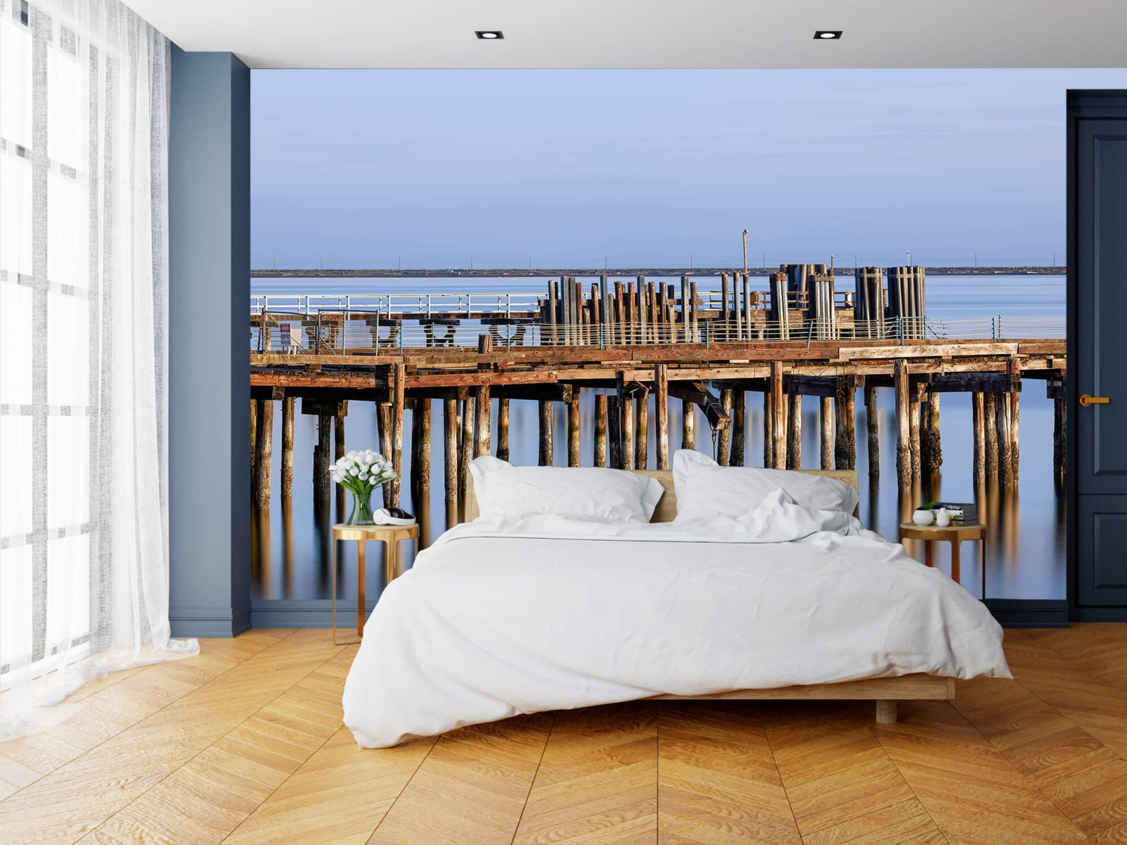 Houten Steigers - Steiger op houten palen - Wallexclusive - Slaapkamer 15