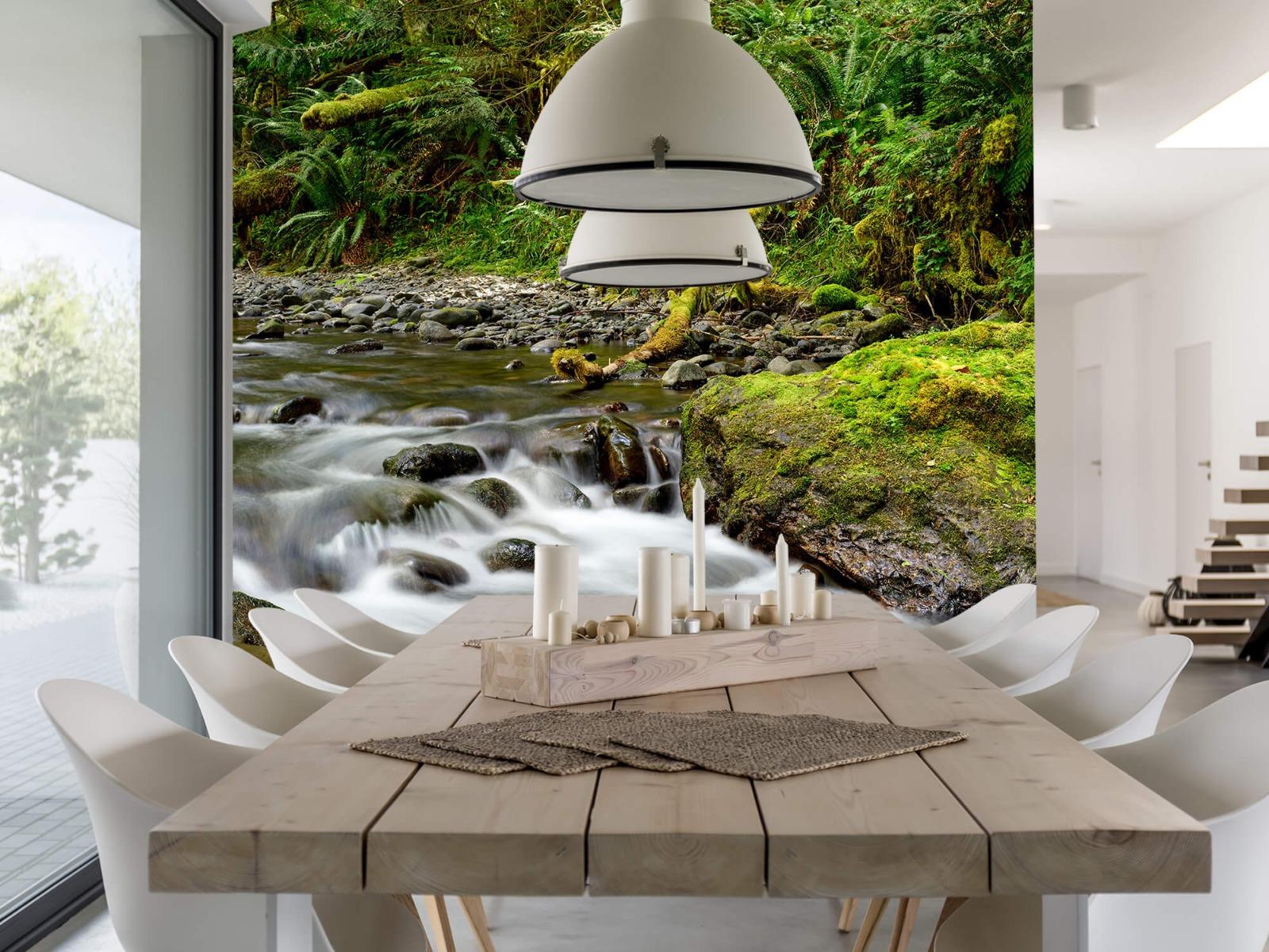 Meertjes en Wateren - Groen rotsblok met riviertje - Wallexclusive - Slaapkamer 3