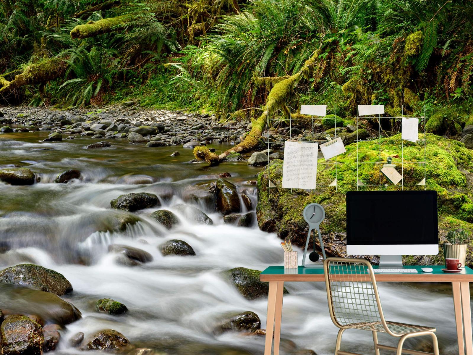 Meertjes en Wateren - Groen rotsblok met riviertje - Wallexclusive - Slaapkamer 8