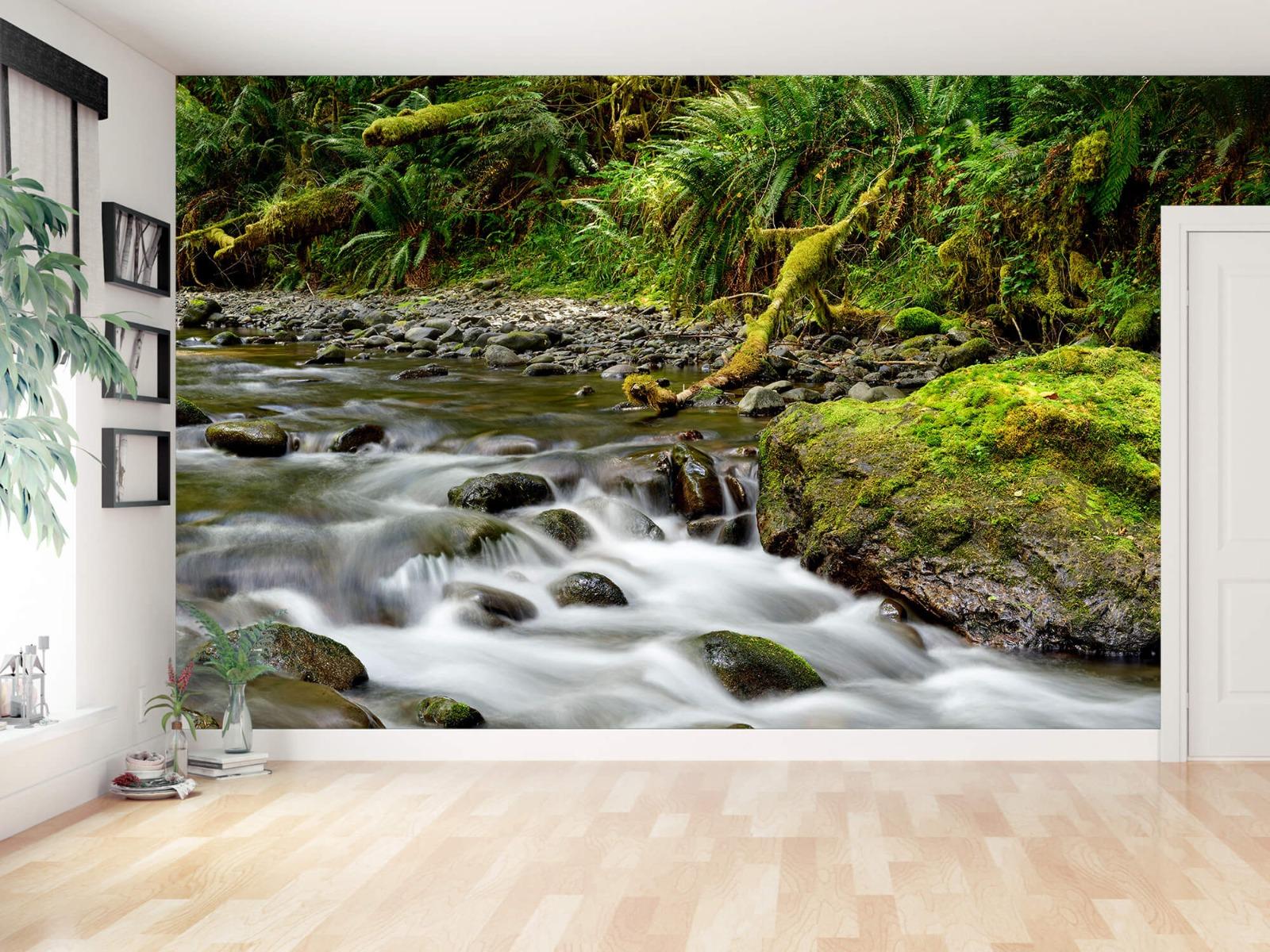 Meertjes en Wateren - Groen rotsblok met riviertje - Wallexclusive - Slaapkamer 12