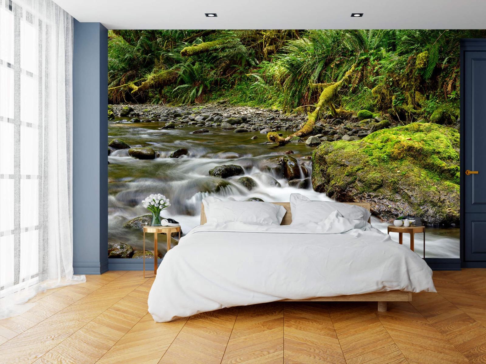 Meertjes en Wateren - Groen rotsblok met riviertje - Wallexclusive - Slaapkamer 16