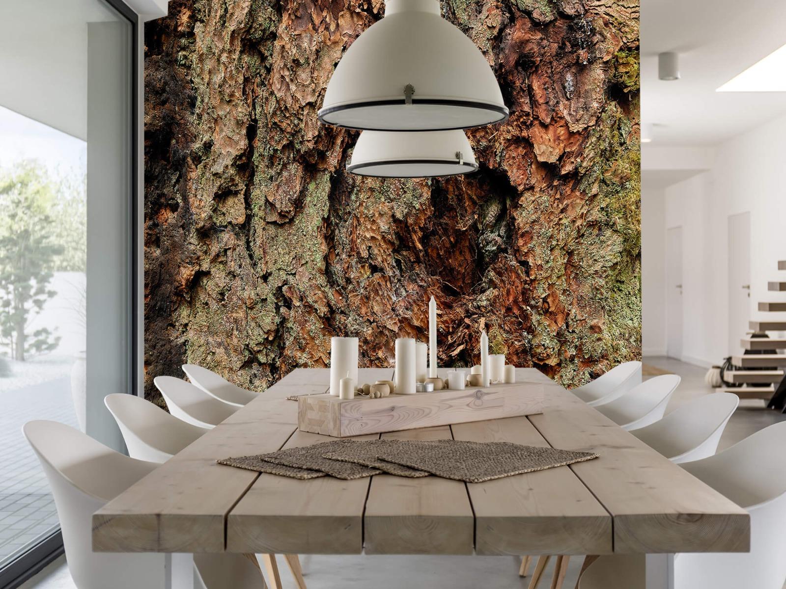 Hout behang - Boomschors oude boom - Wallexclusive - Slaapkamer 1