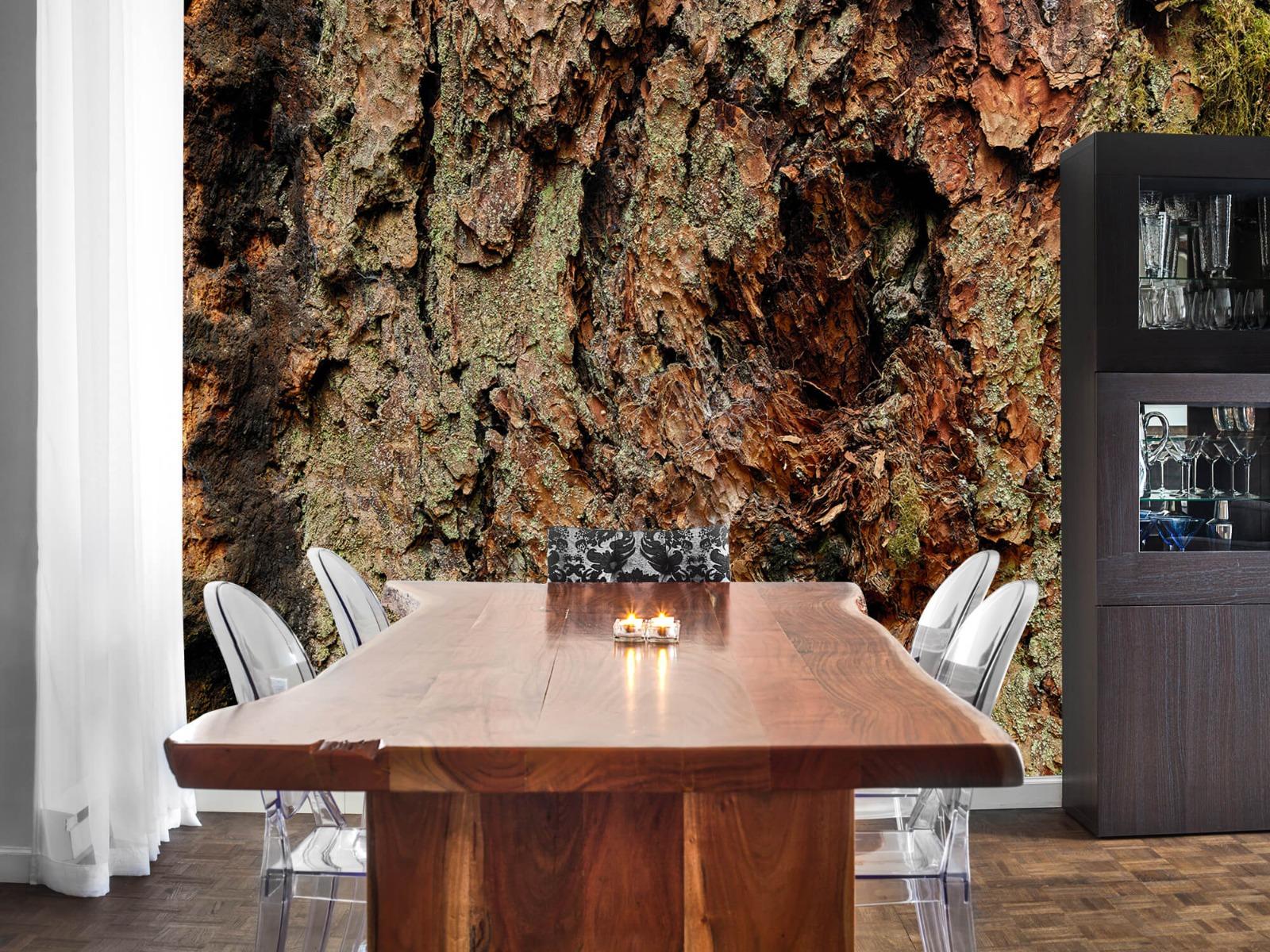 Hout behang - Boomschors oude boom - Wallexclusive - Slaapkamer 2
