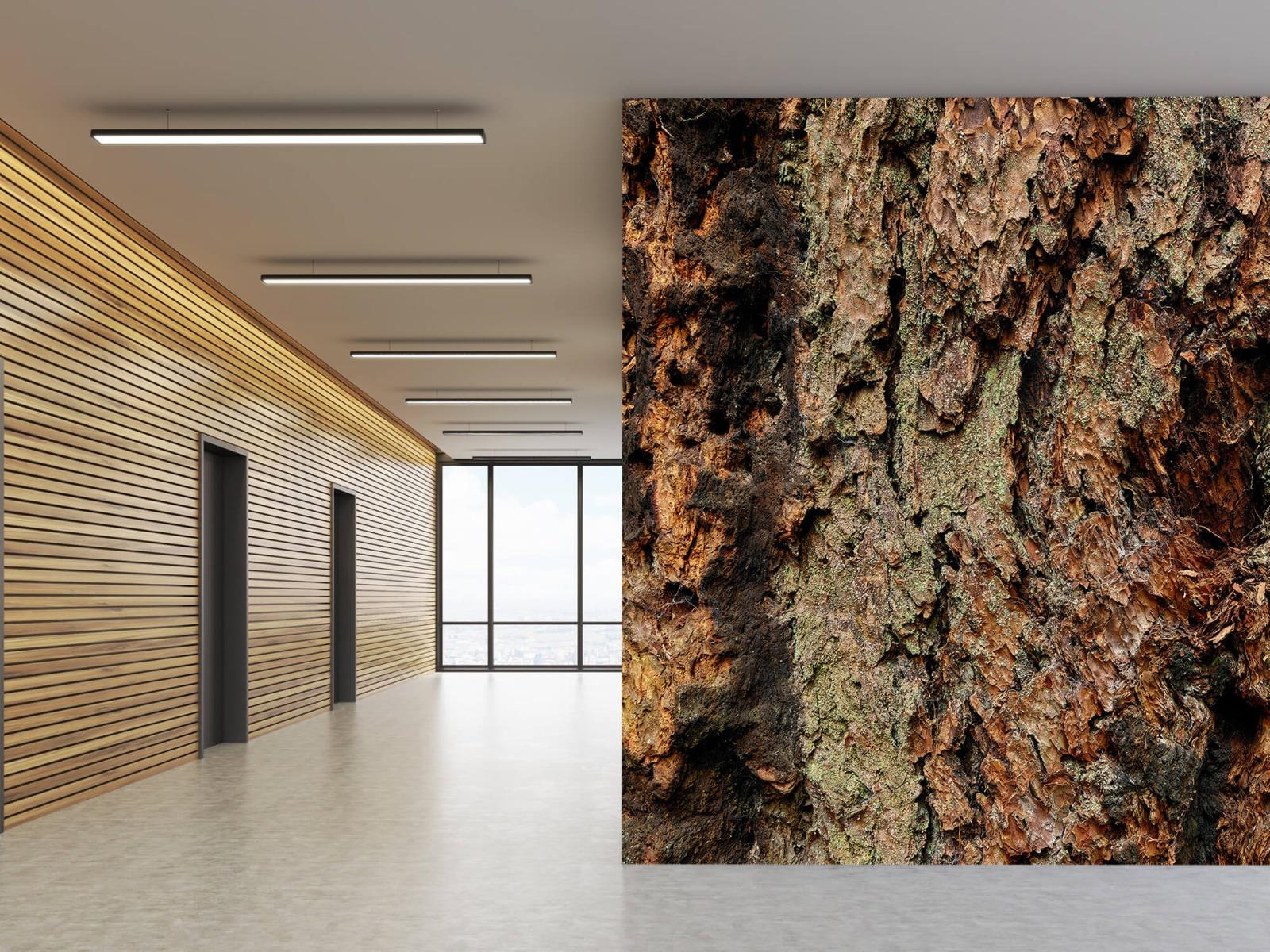 Hout behang - Boomschors oude boom - Wallexclusive - Slaapkamer 5