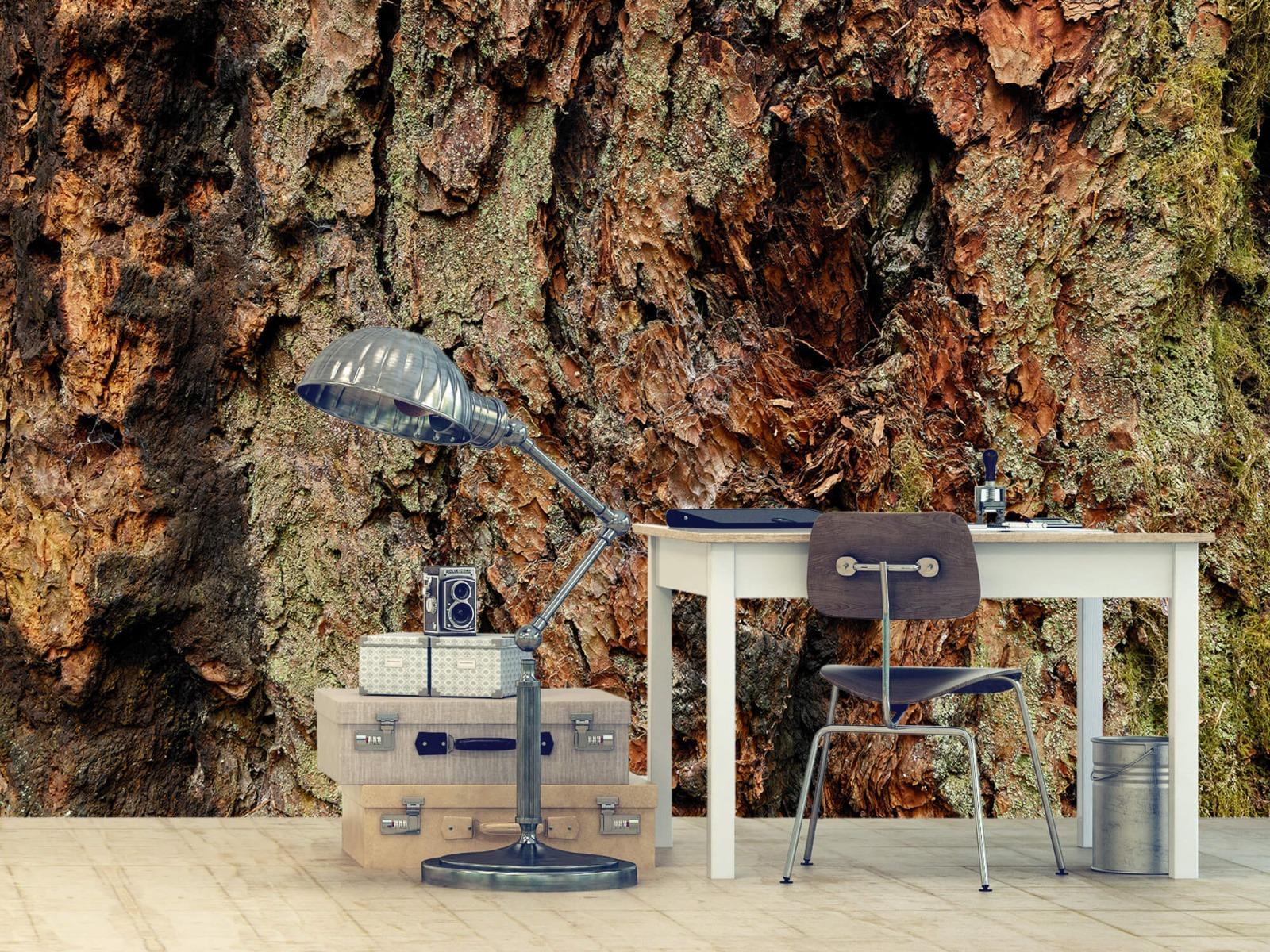 Hout behang - Boomschors oude boom - Wallexclusive - Slaapkamer 9