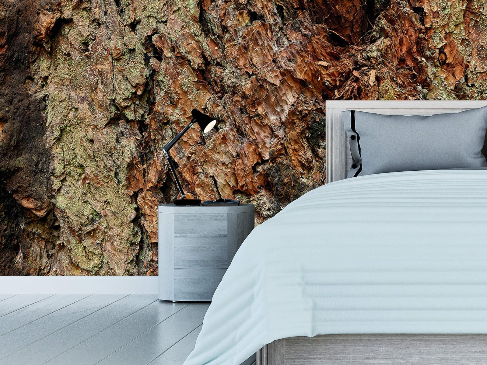 Hout behang - Boomschors oude boom - Wallexclusive - Slaapkamer 12