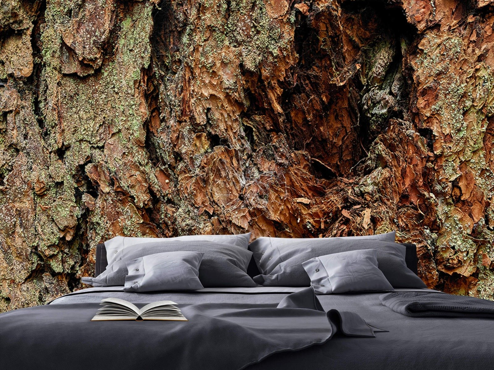 Hout behang - Boomschors oude boom - Wallexclusive - Slaapkamer 17