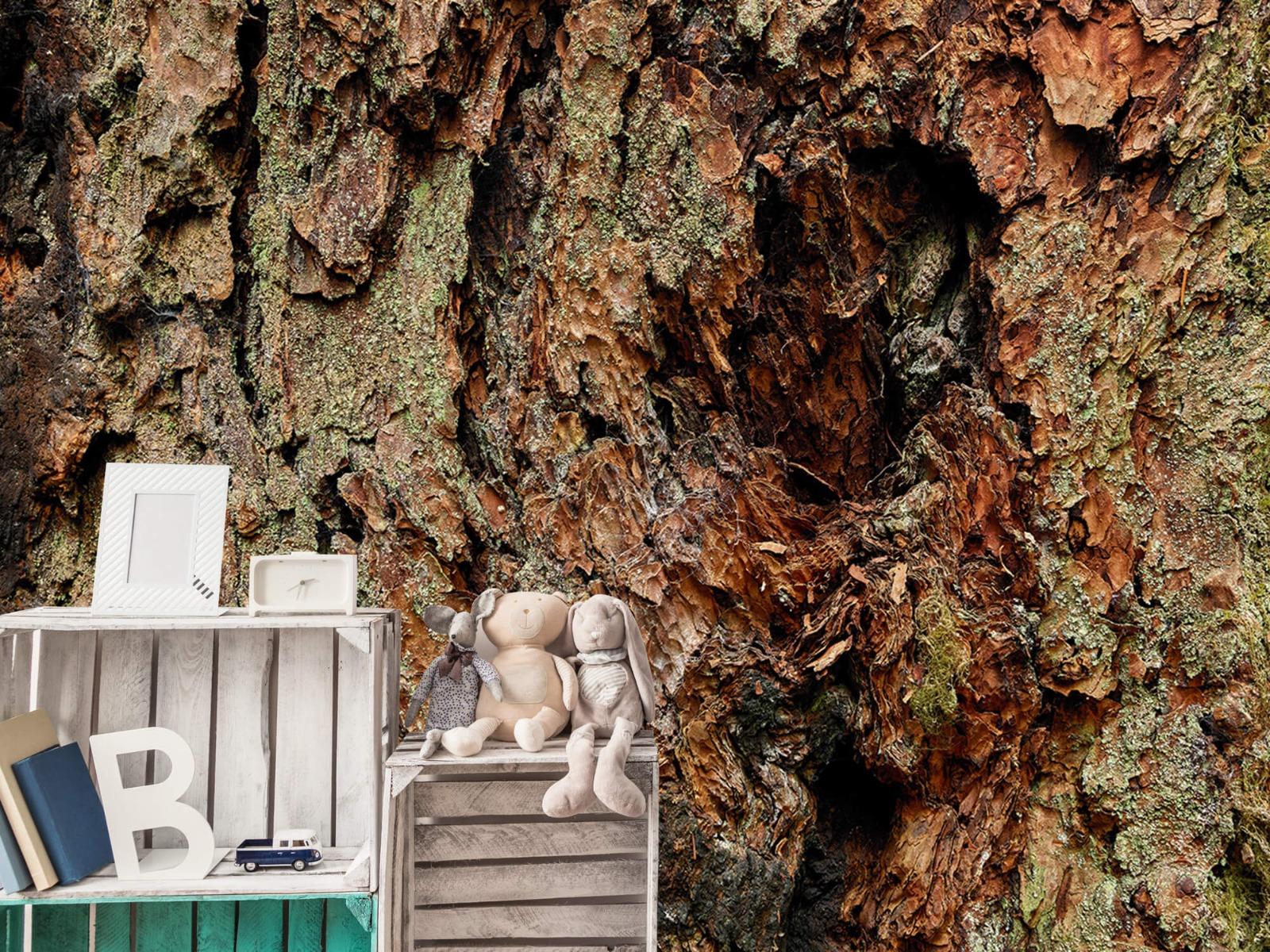 Hout behang - Boomschors oude boom - Wallexclusive - Slaapkamer 19