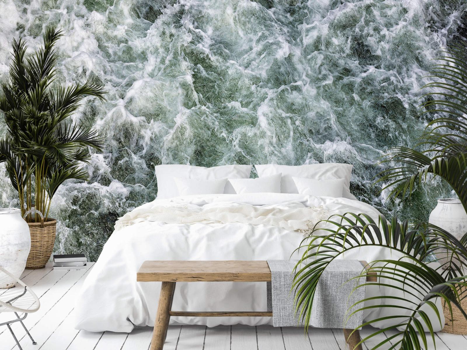 Zeeën en Oceanen - Kolkend water - Wallexclusive - Slaapkamer 13