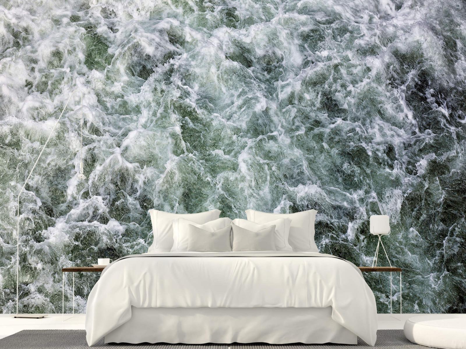 Zeeën en Oceanen - Kolkend water - Wallexclusive - Slaapkamer 16