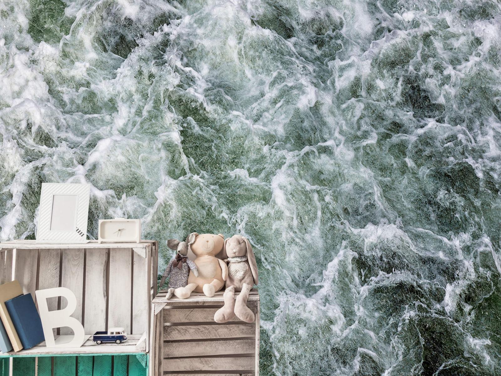 Zeeën en Oceanen - Kolkend water - Wallexclusive - Slaapkamer 19