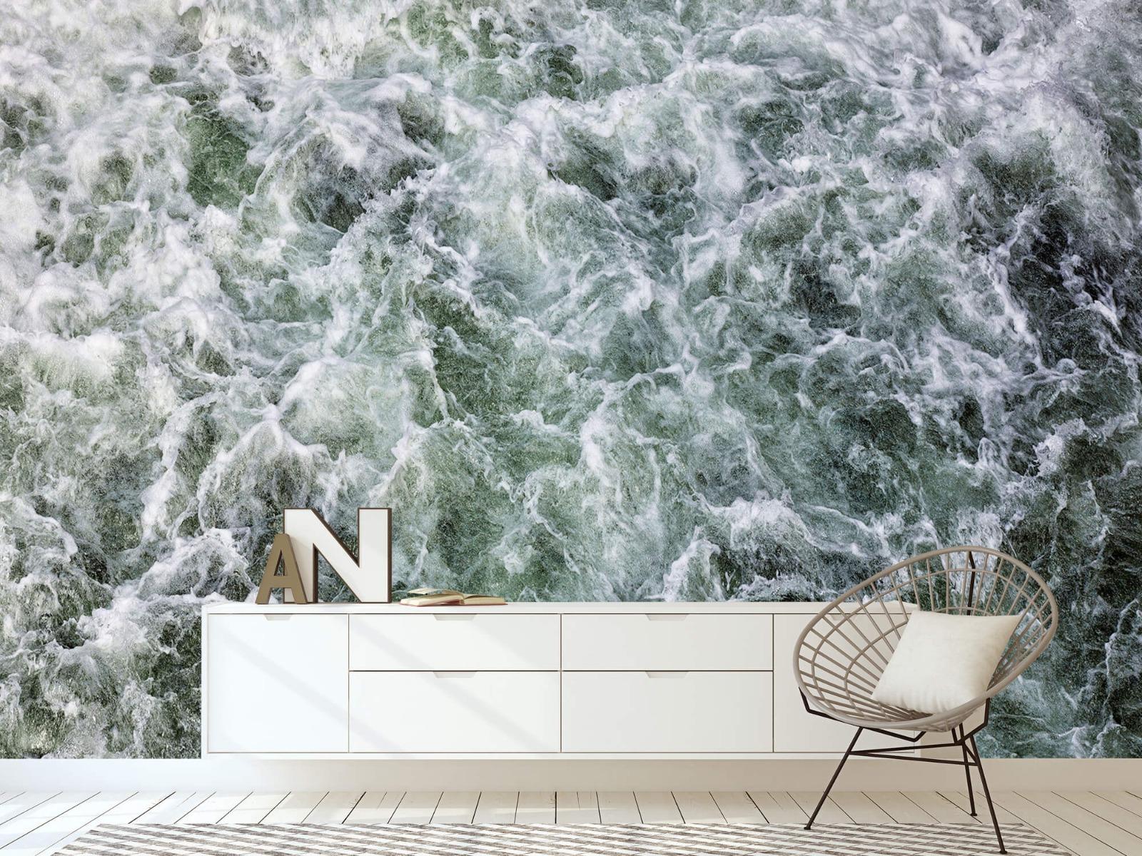 Zeeën en Oceanen - Kolkend water - Wallexclusive - Slaapkamer 23