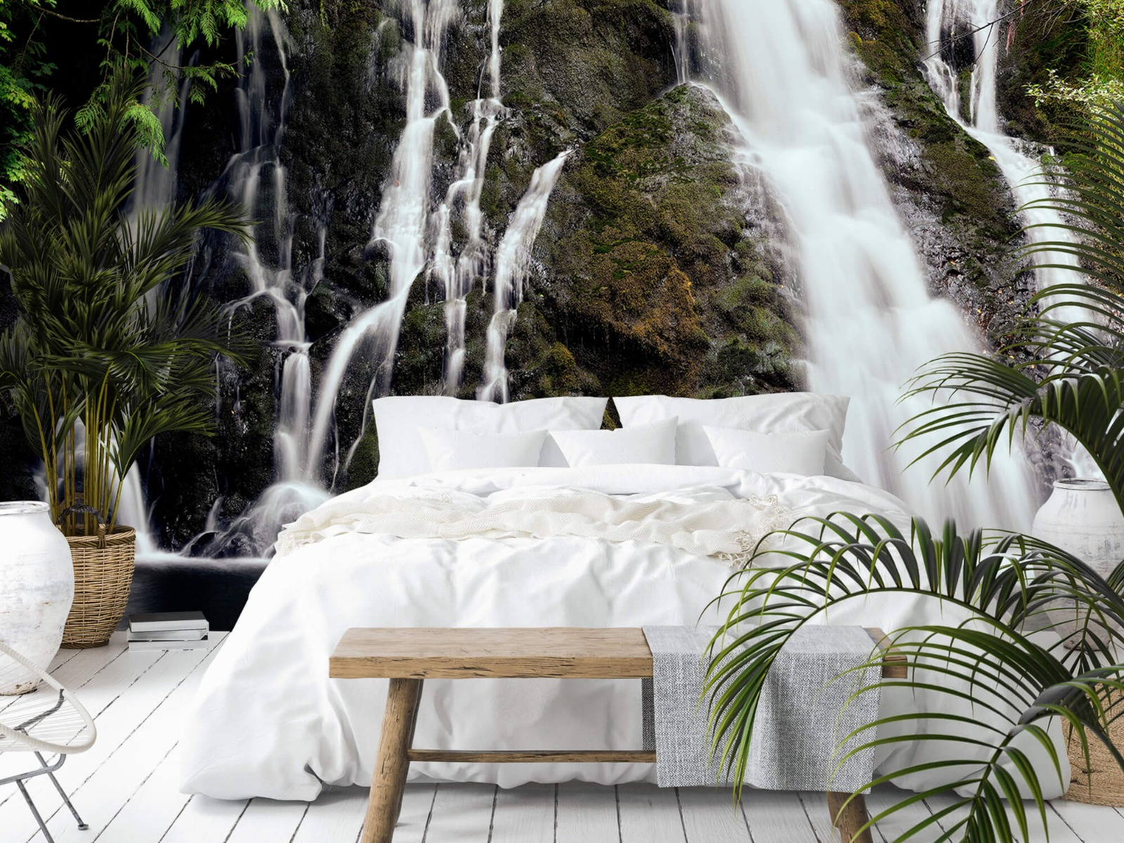 Watervallen - Waterval met 4 stromen - Wallexclusive - Slaapkamer 14