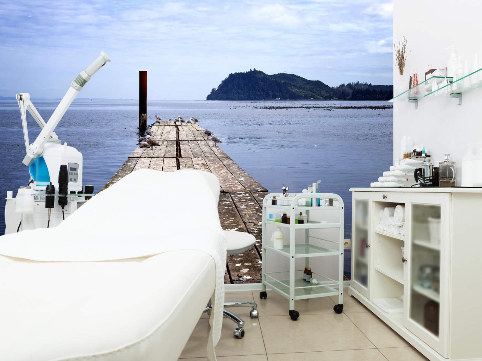 Zeeën en Oceanen - Steiger in zee - Slaapkamer 4