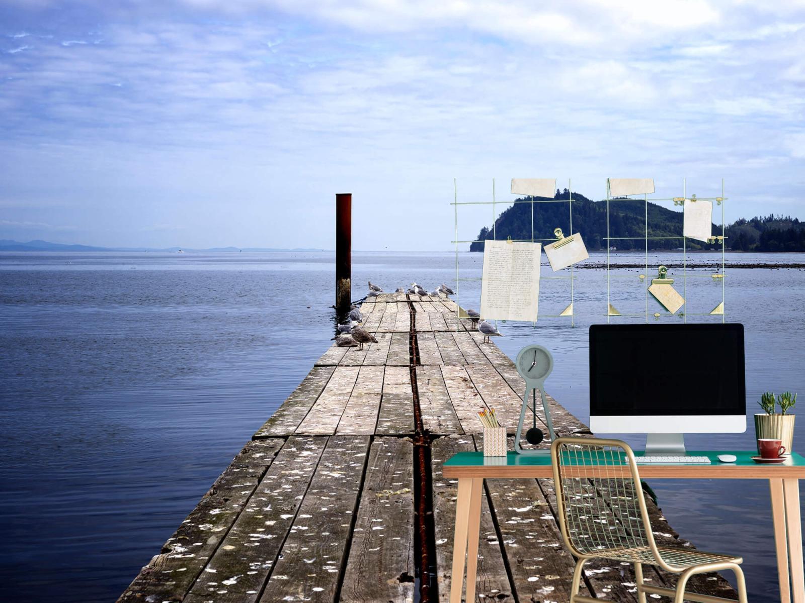 Zeeën en Oceanen - Steiger in zee - Slaapkamer 7