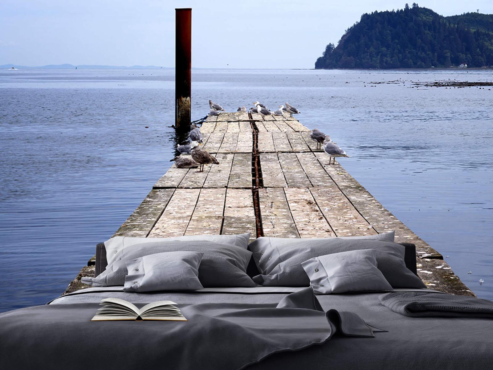 Zeeën en Oceanen - Steiger in zee - Slaapkamer 17