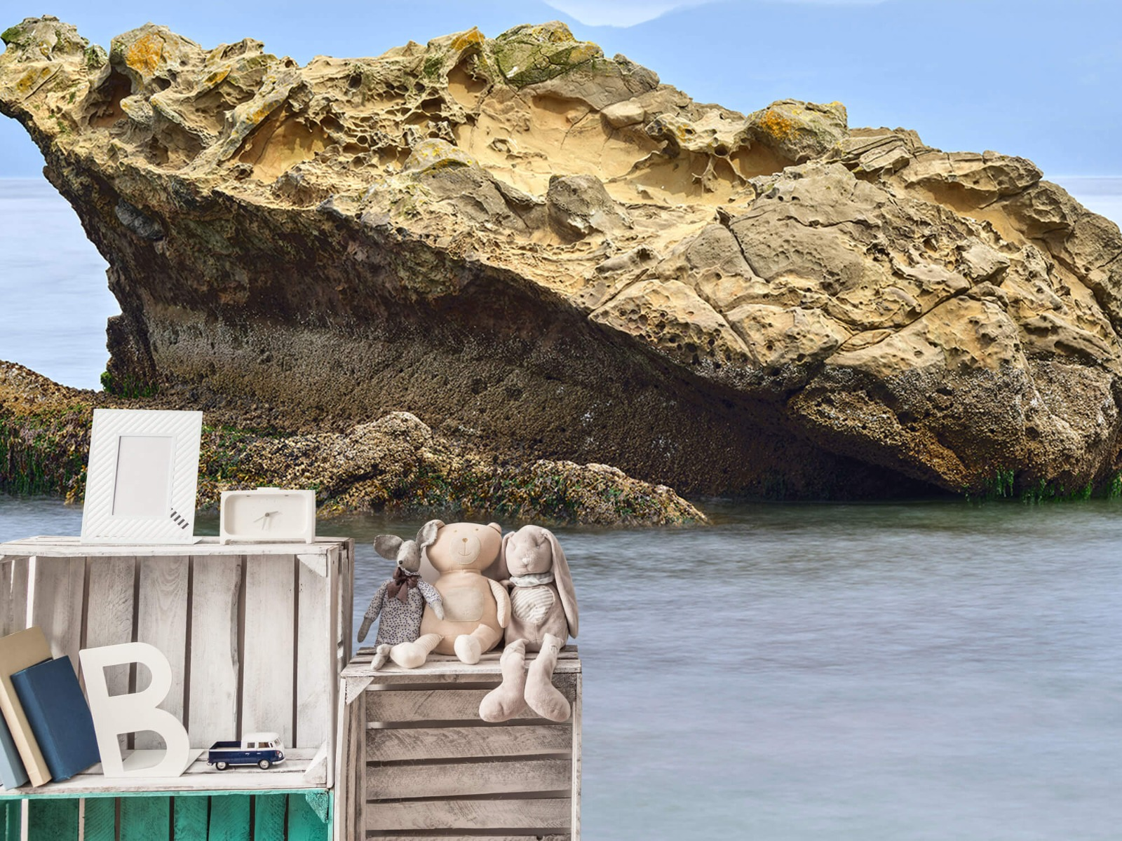 Zeeën en Oceanen - Mooie rots aan de kust - Wallexclusive - Woonkamer 19