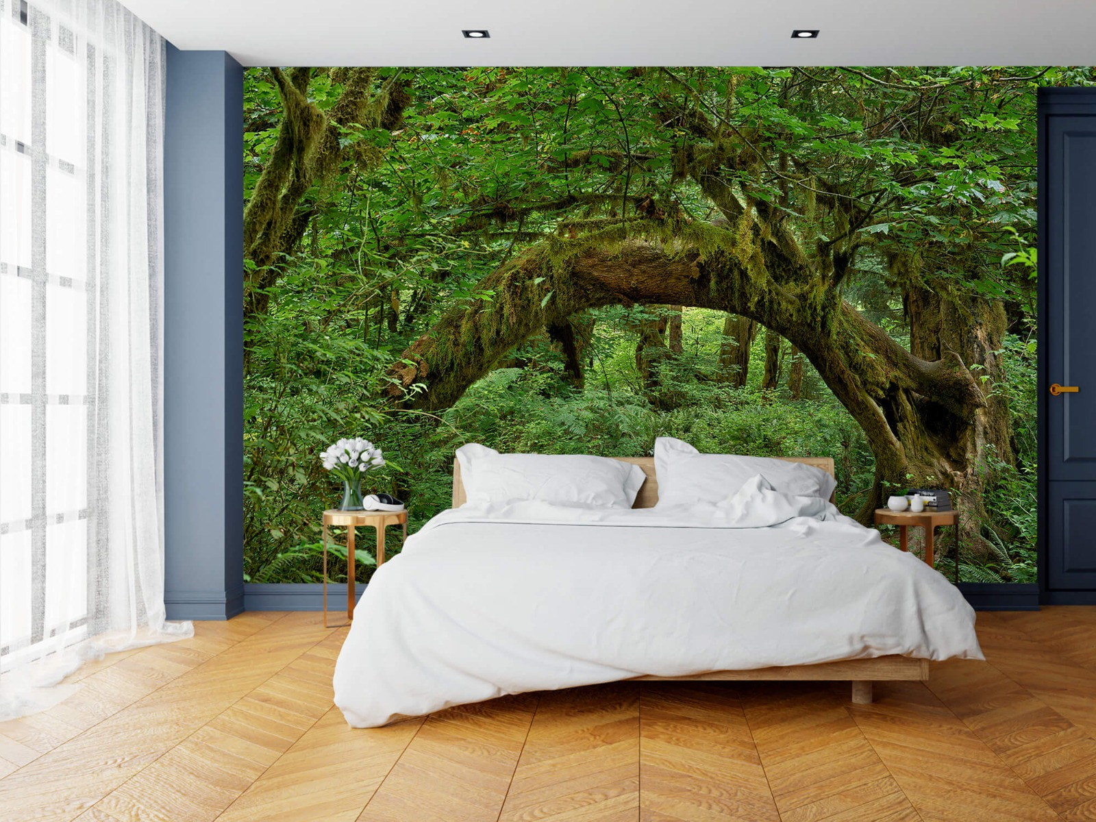 Bos behang - Boom in een boog - Slaapkamer 3