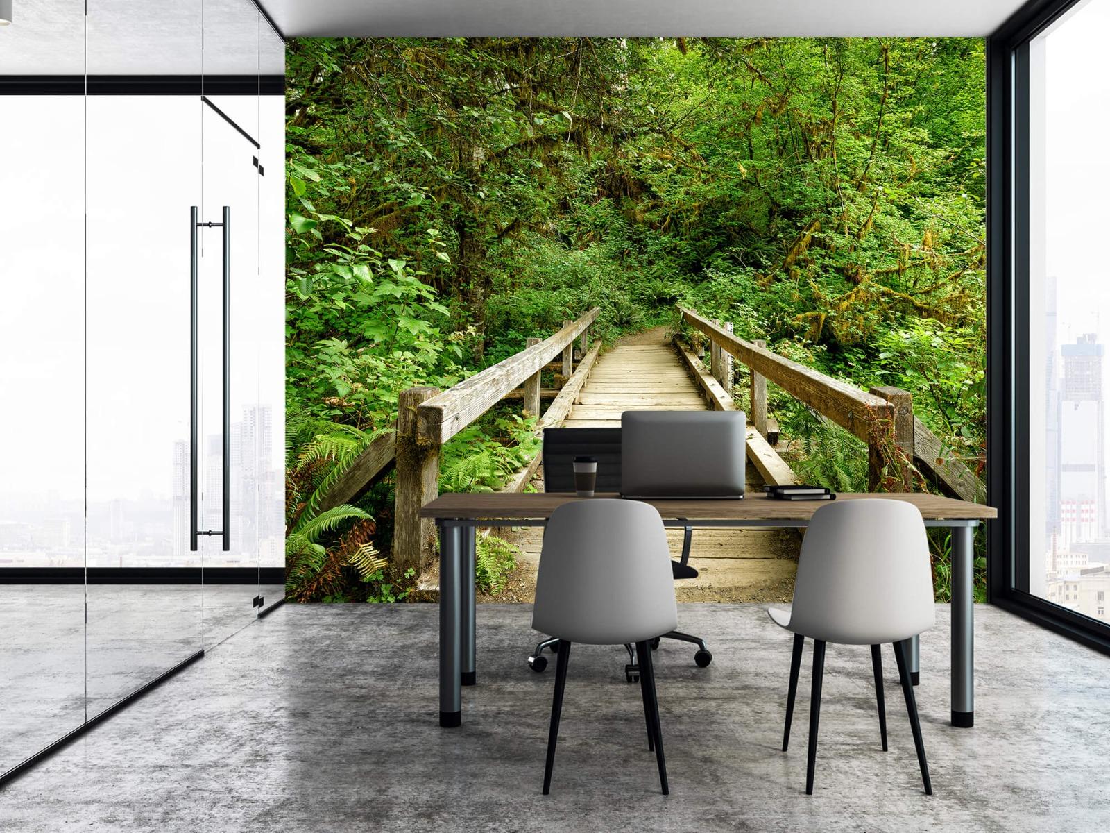 Bos behang - Brug van hout - Slaapkamer 5