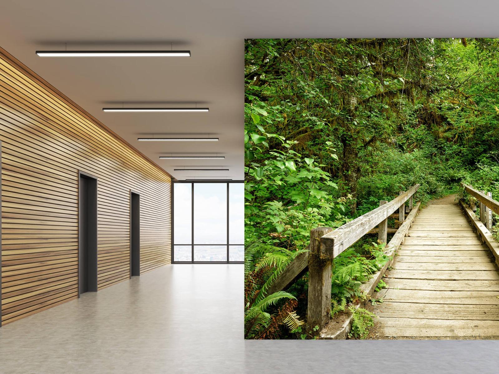 Bos behang - Brug van hout - Slaapkamer 9