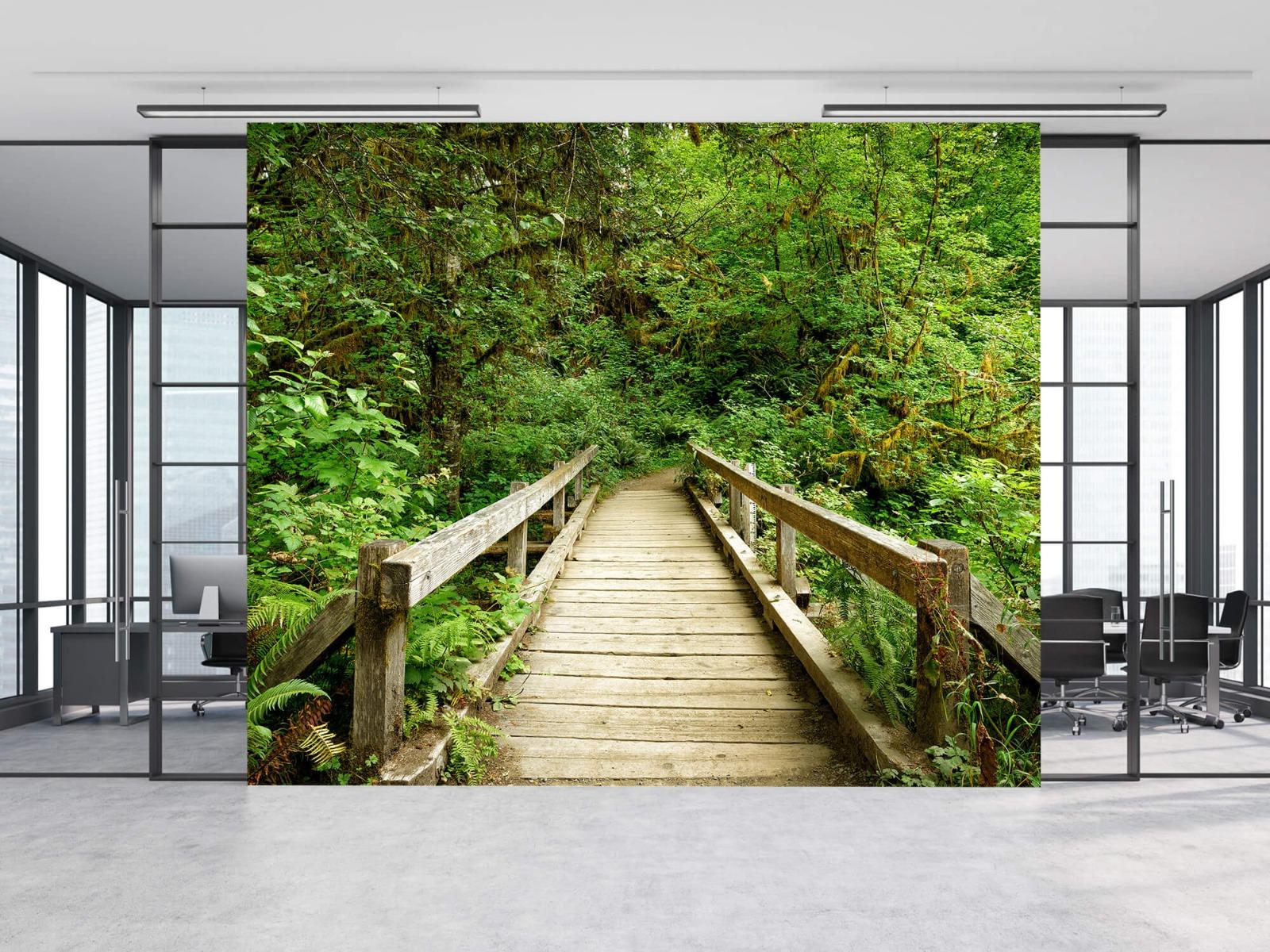 Bos behang - Brug van hout - Slaapkamer 4