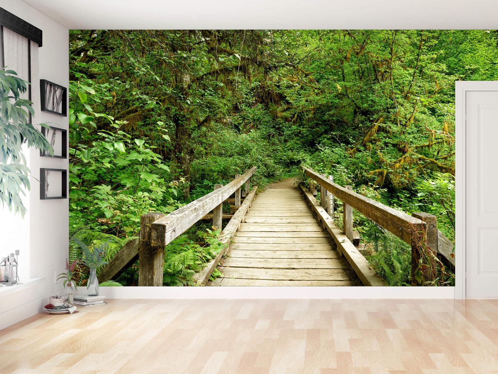 Bos behang - Brug van hout - Slaapkamer 13