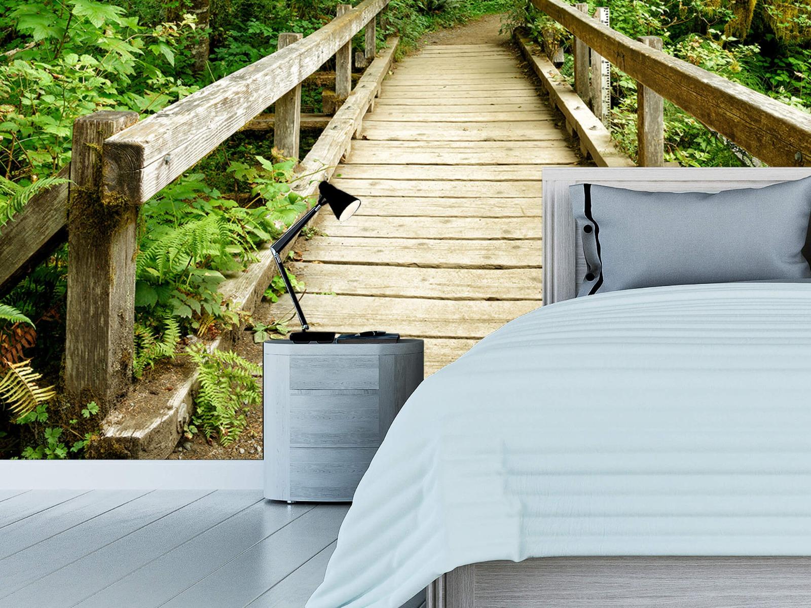 Bos behang - Brug van hout - Slaapkamer 14