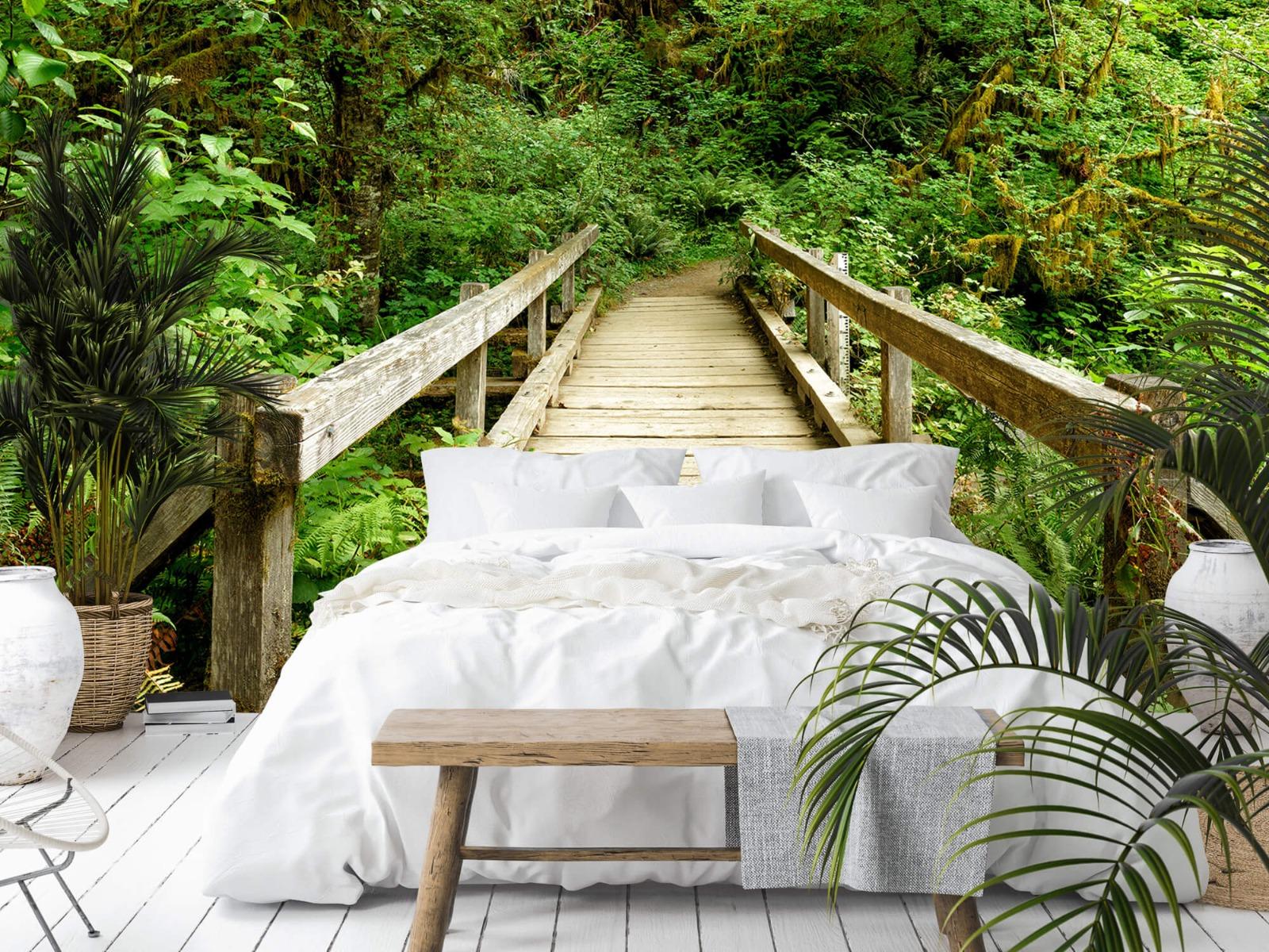 Bos behang - Brug van hout - Slaapkamer 3
