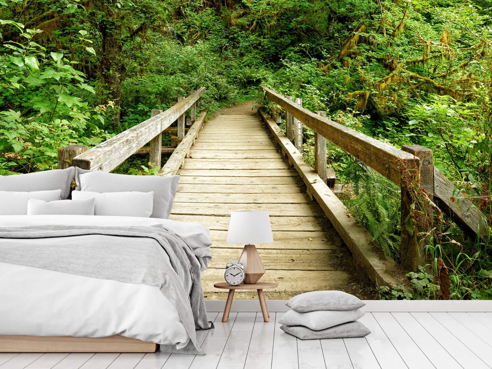 Bos behang - Brug van hout - Slaapkamer 15