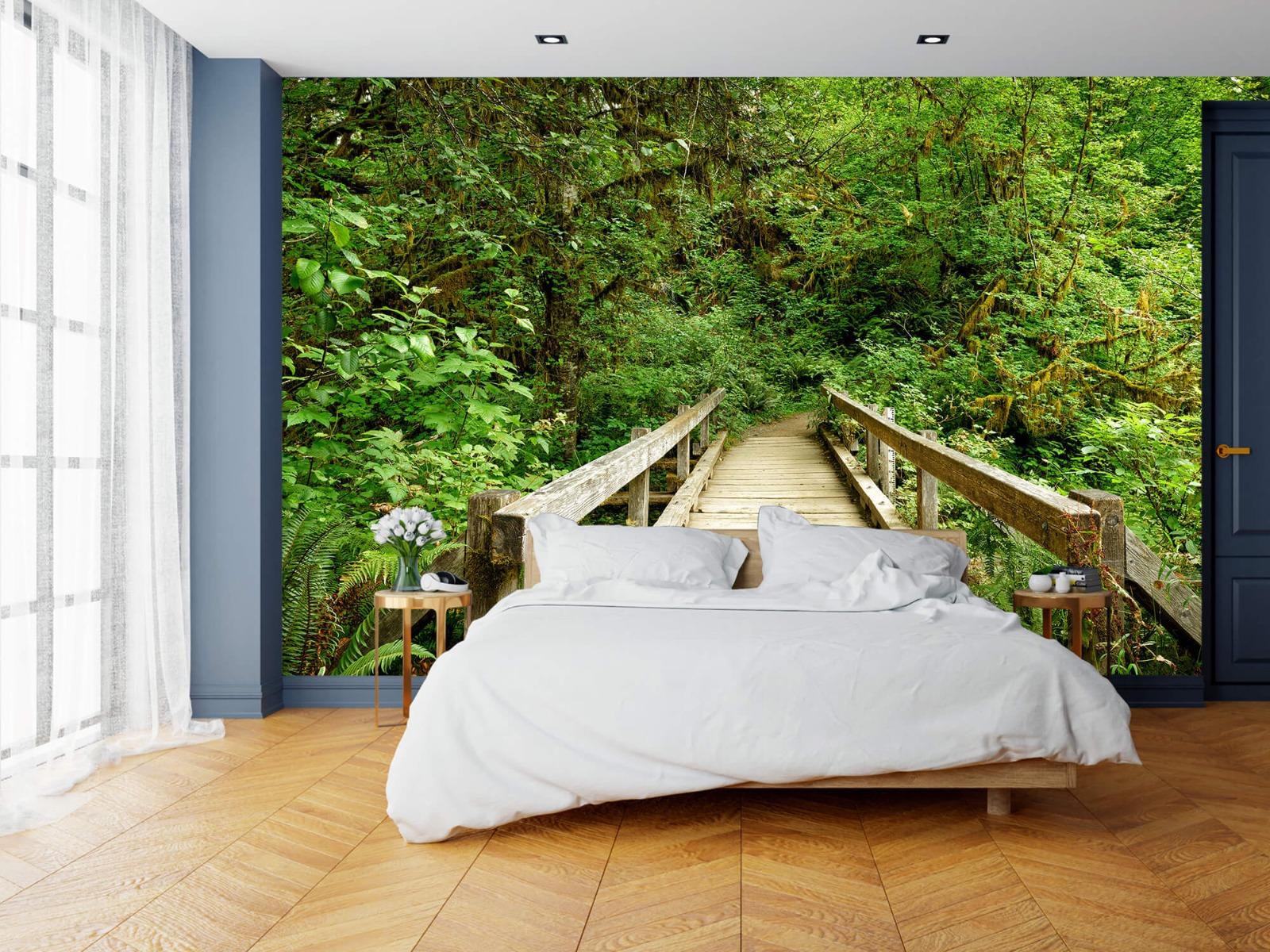 Bos behang - Brug van hout - Slaapkamer 16
