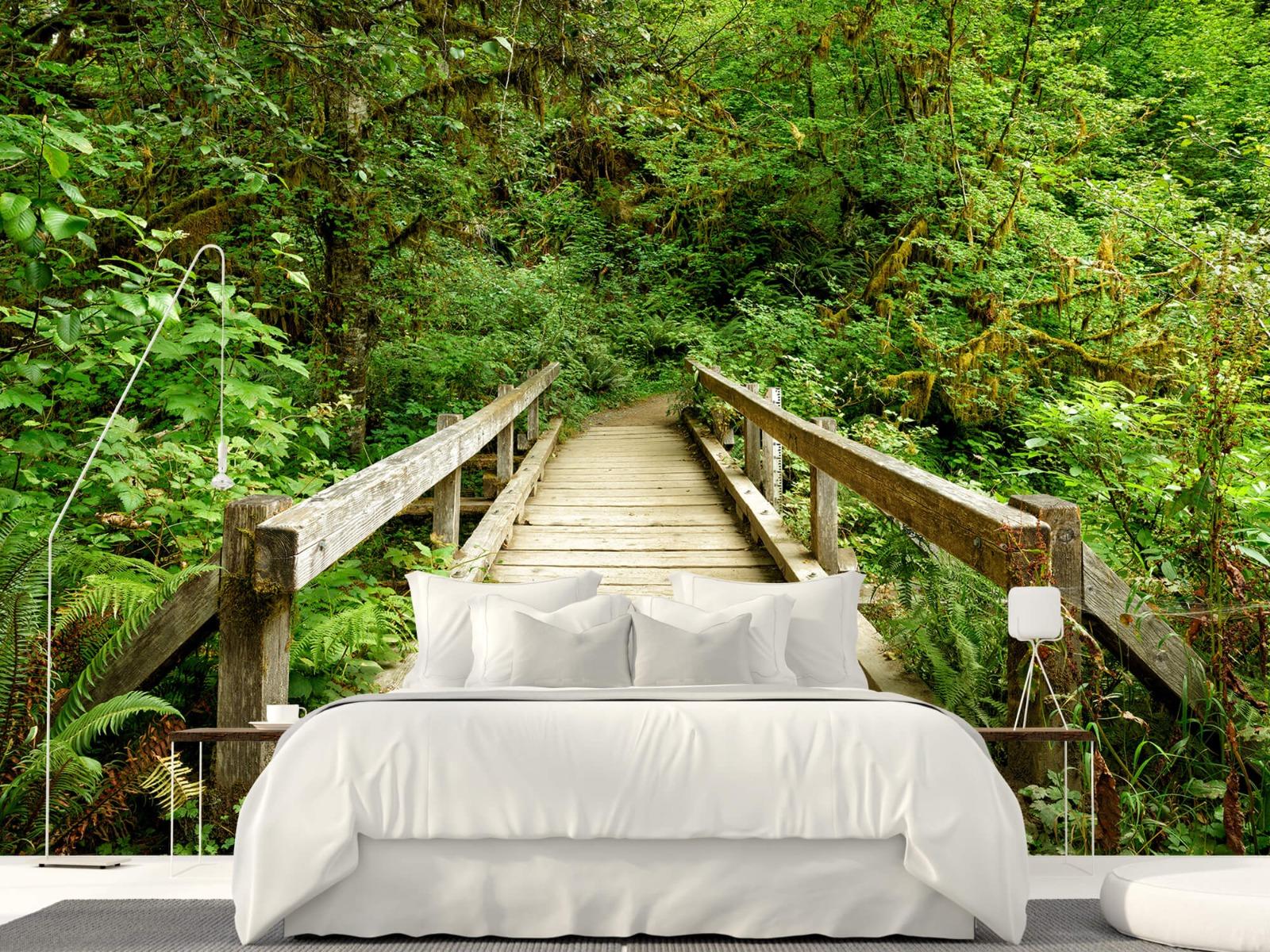 Bos behang - Brug van hout - Slaapkamer 17