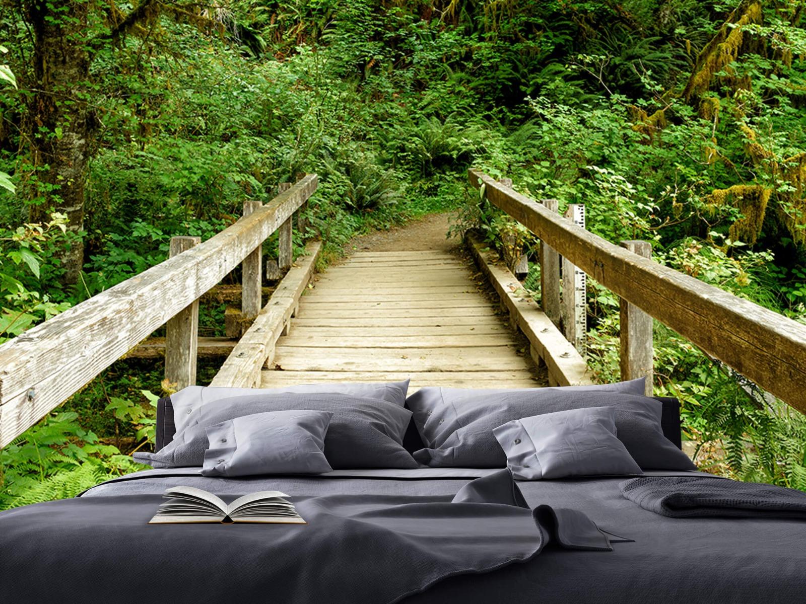 Bos behang - Brug van hout - Slaapkamer 18