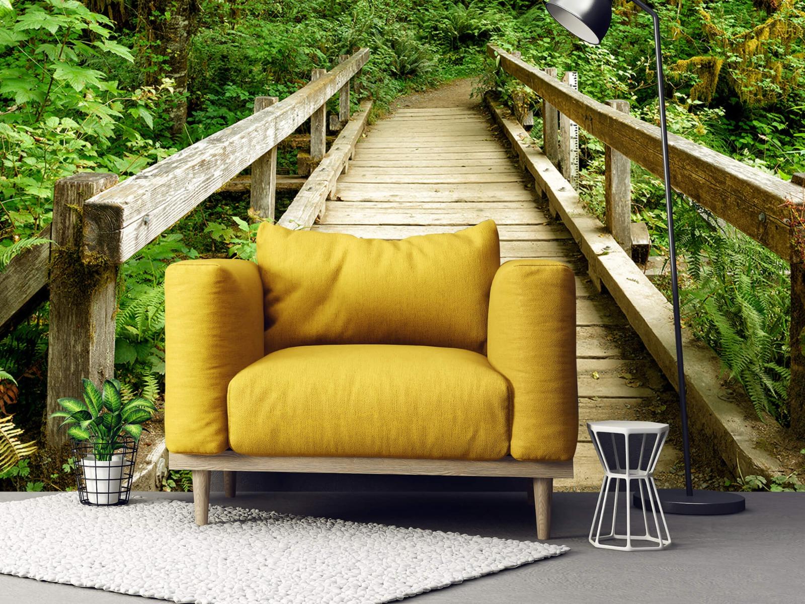 Bos behang - Brug van hout - Slaapkamer 21