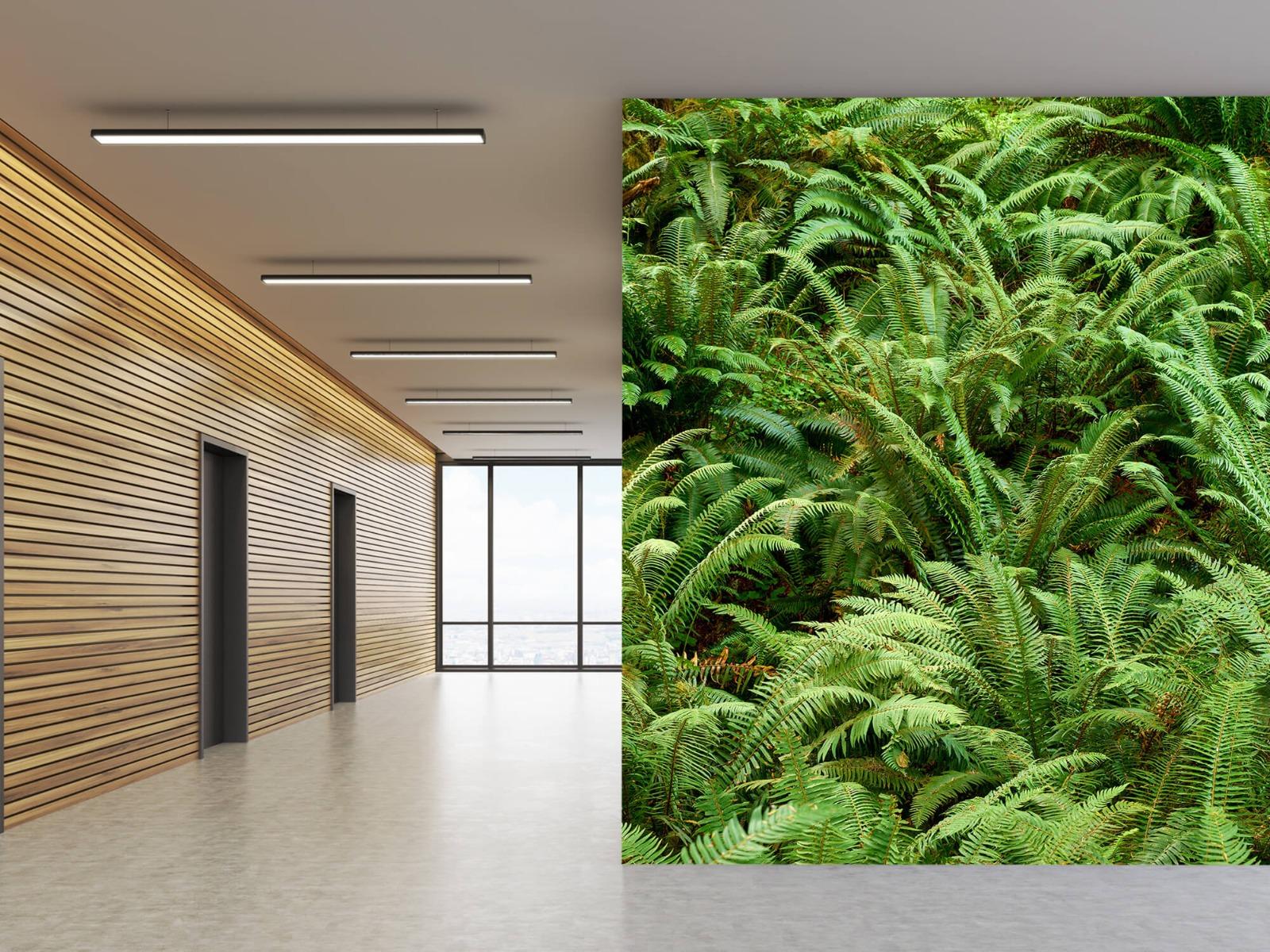 Bladeren - Groene varens - Slaapkamer 18