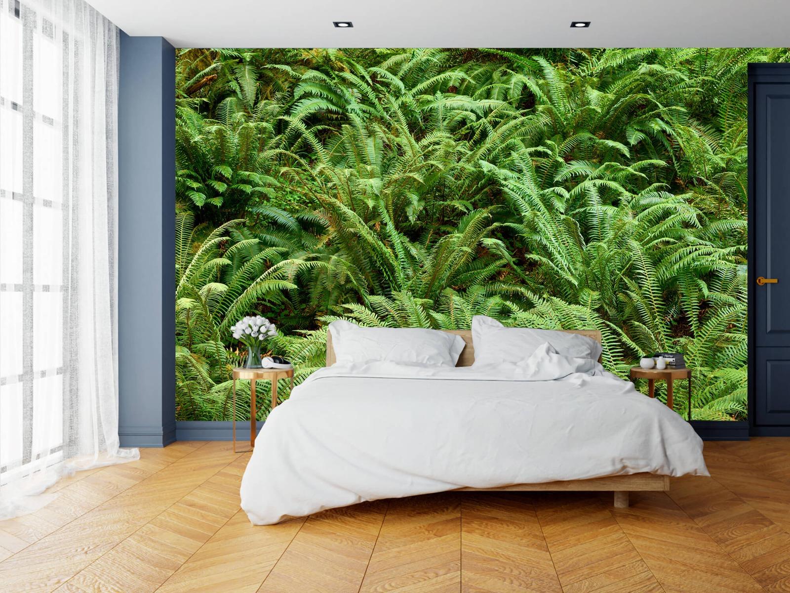 Bladeren - Groene varens - Slaapkamer 13