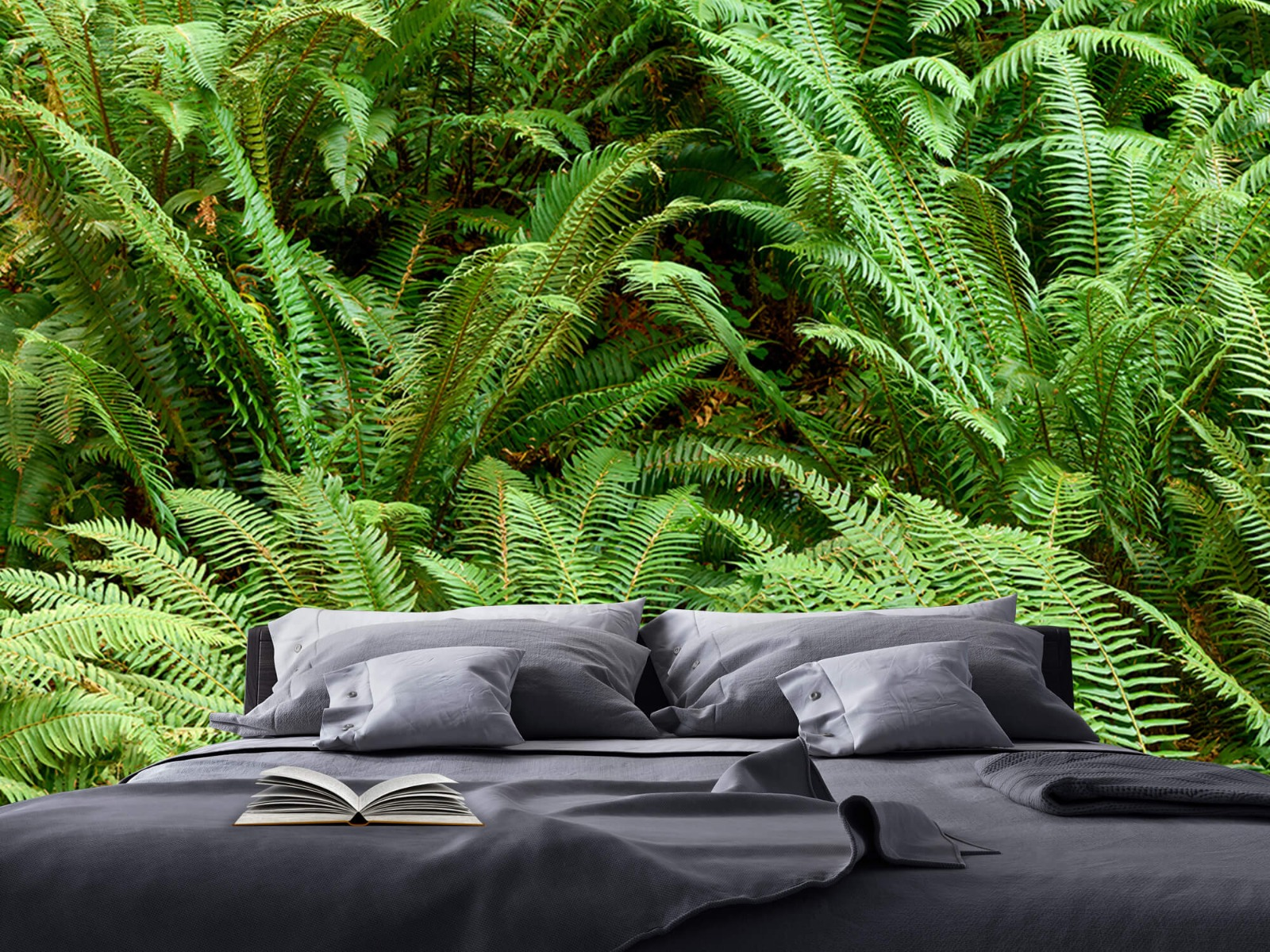 Bladeren - Groene varens - Slaapkamer 15