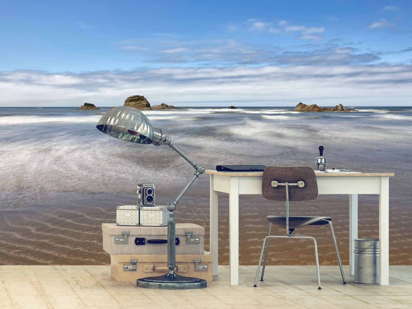 Zeeën en Oceanen - Strand met rotsen - Slaapkamer 13