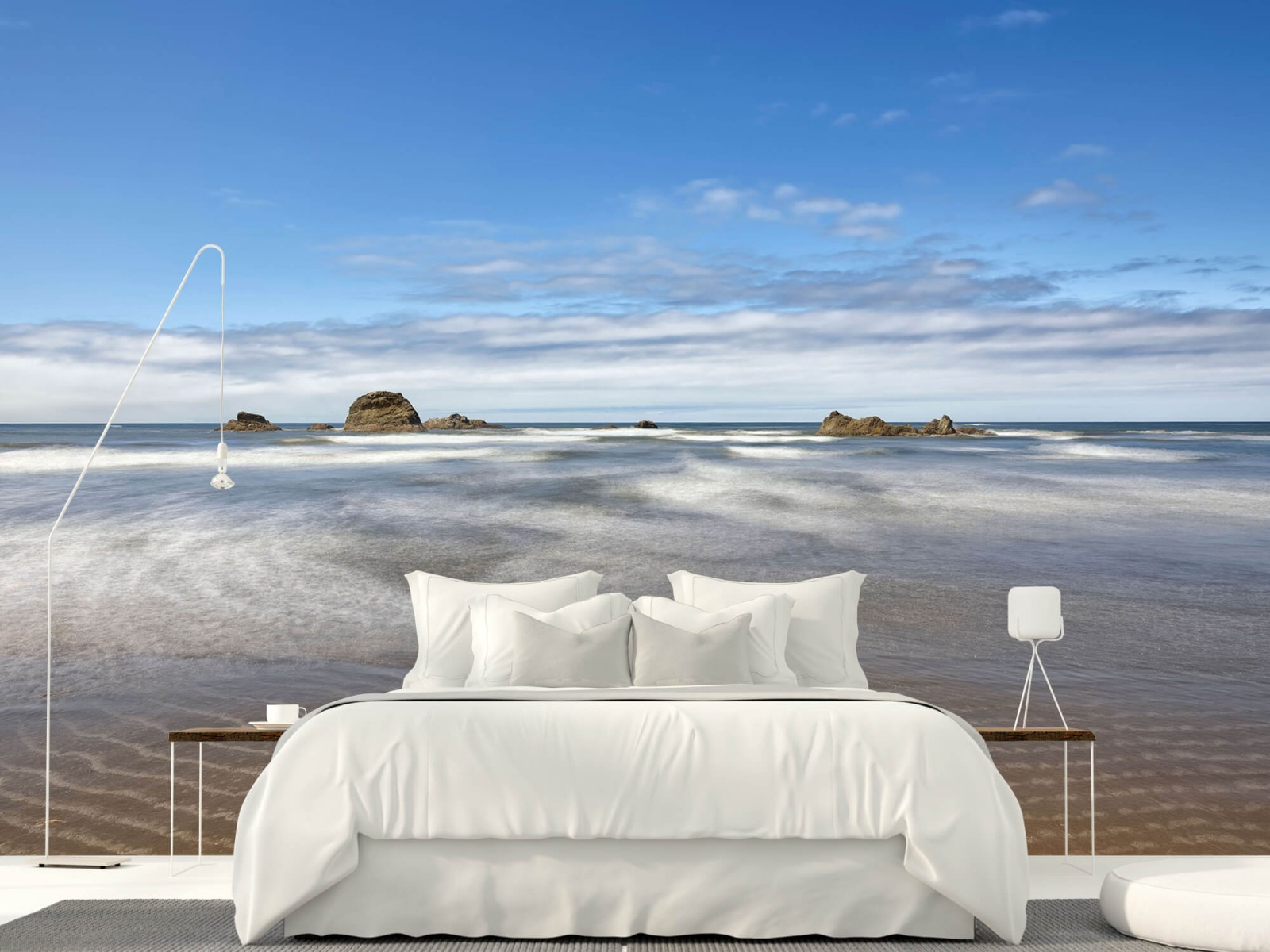 Zeeën en Oceanen - Strand met rotsen - Slaapkamer 3