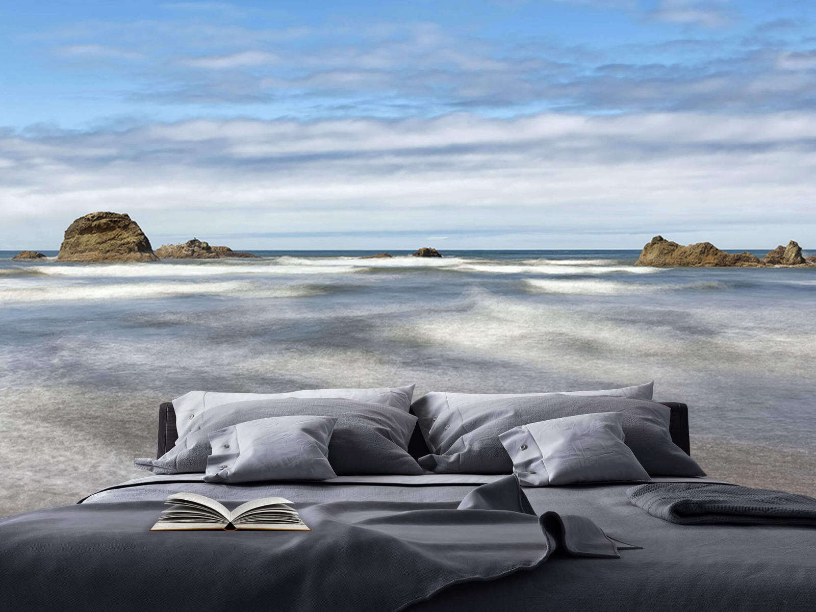 Zeeën en Oceanen - Strand met rotsen - Slaapkamer 19